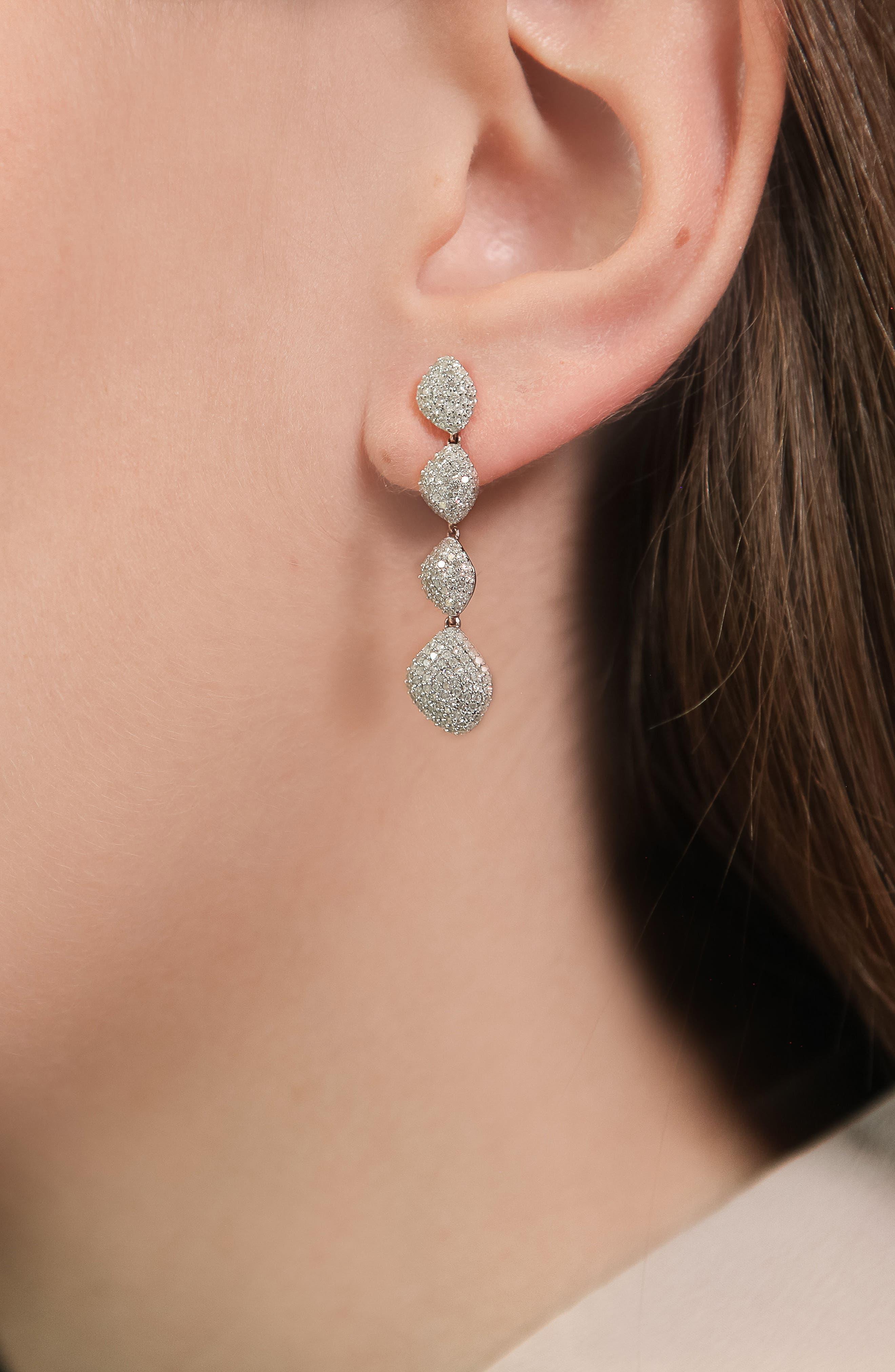 Nura Teardrop Earring,                             Alternate thumbnail 2, color,                             Rose Gold