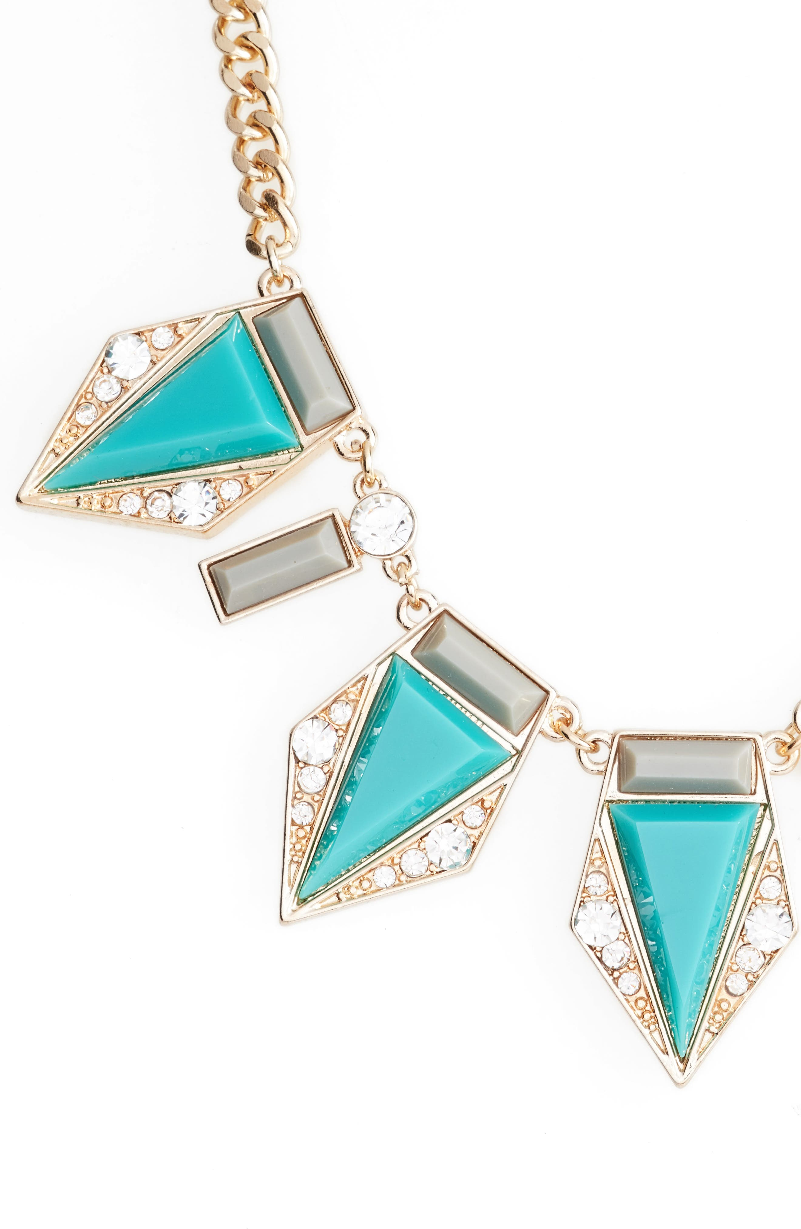 Triangle Stone Necklace,                         Main,                         color, Turquoise