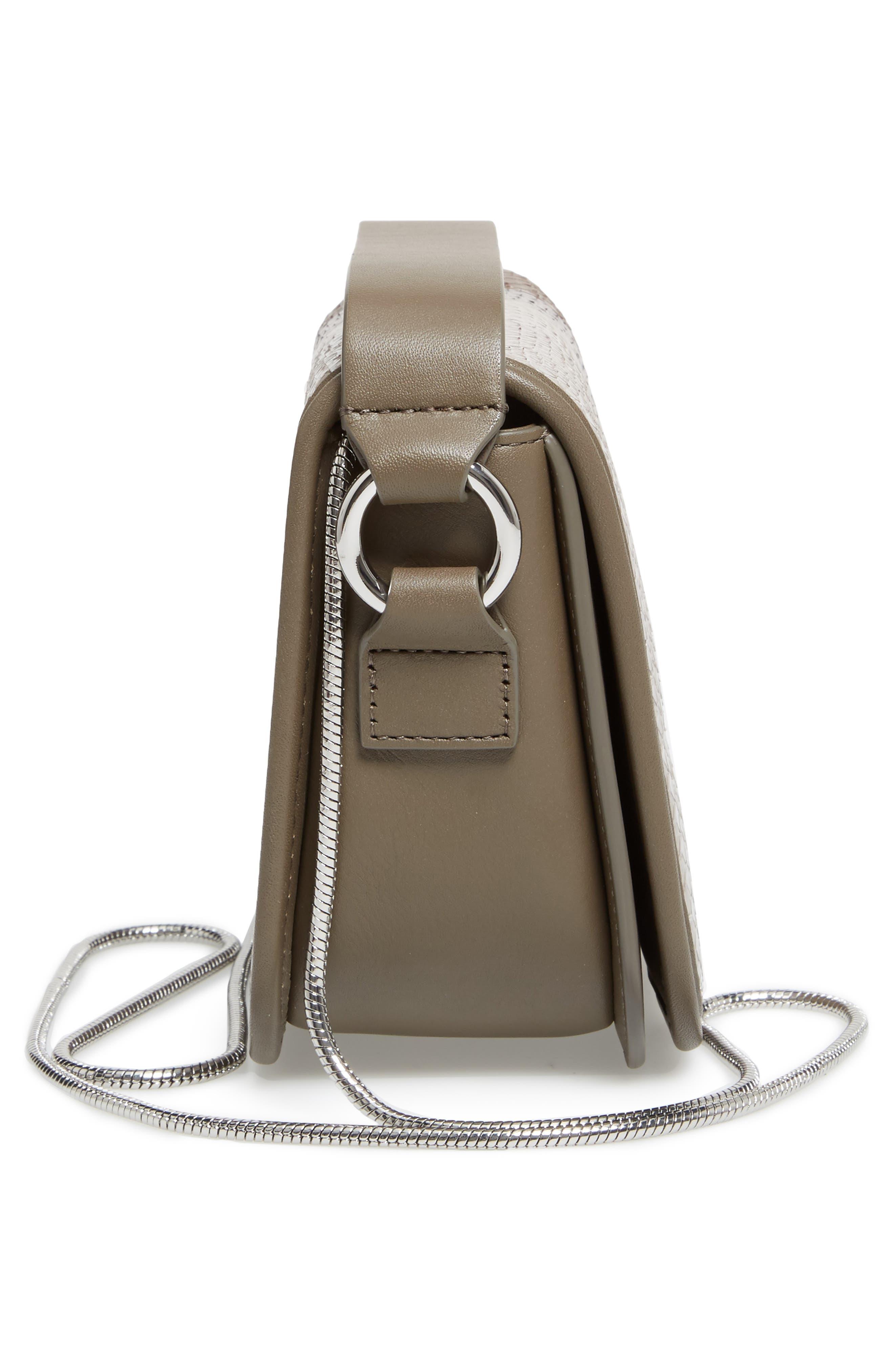 Alternate Image 3  - ALLSAINTS Ikuya Leather & Genuine Snakeskin Clutch