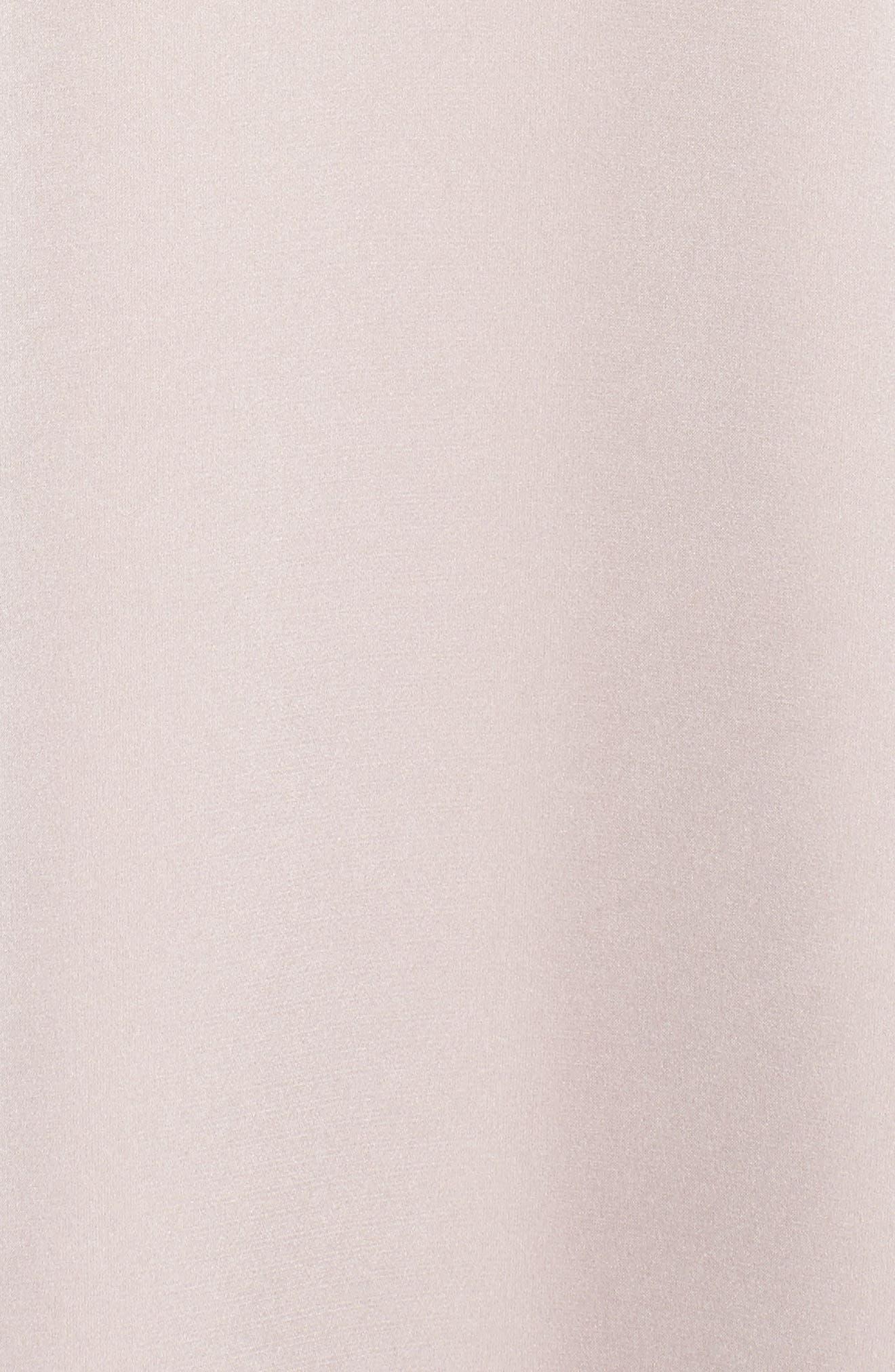 Alternate Image 6  - Monique Lhuillier Bridesmaids Isabel Sateen Cold Shoulder Gown