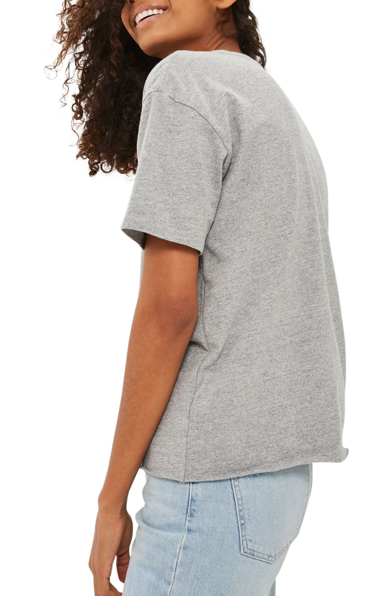 Alternate Image 2  - Topshop Initial Embroidered Tee