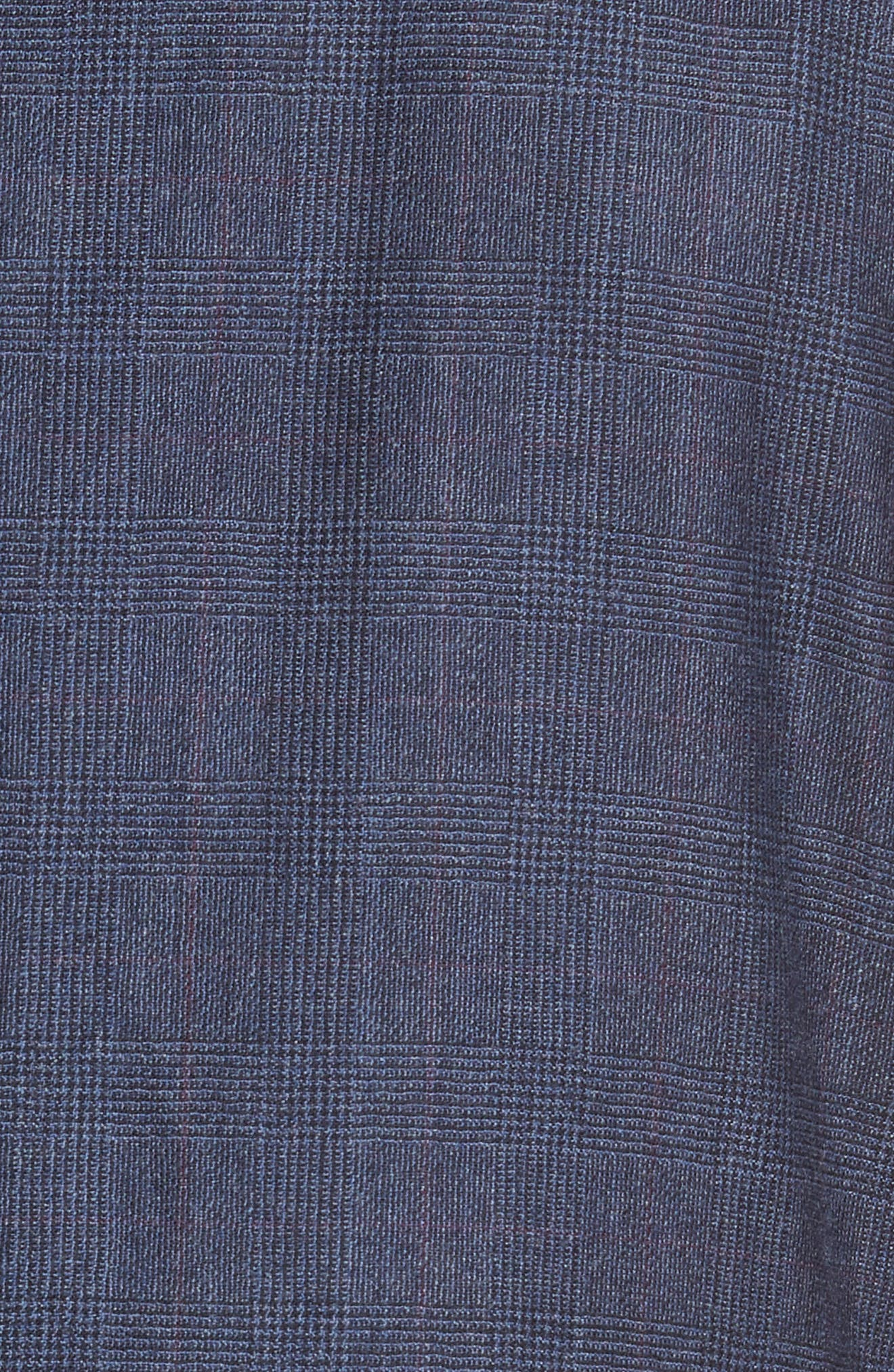 Jay Trim Fit Plaid Wool & Cashmere Suit,                             Alternate thumbnail 7, color,                             Blue