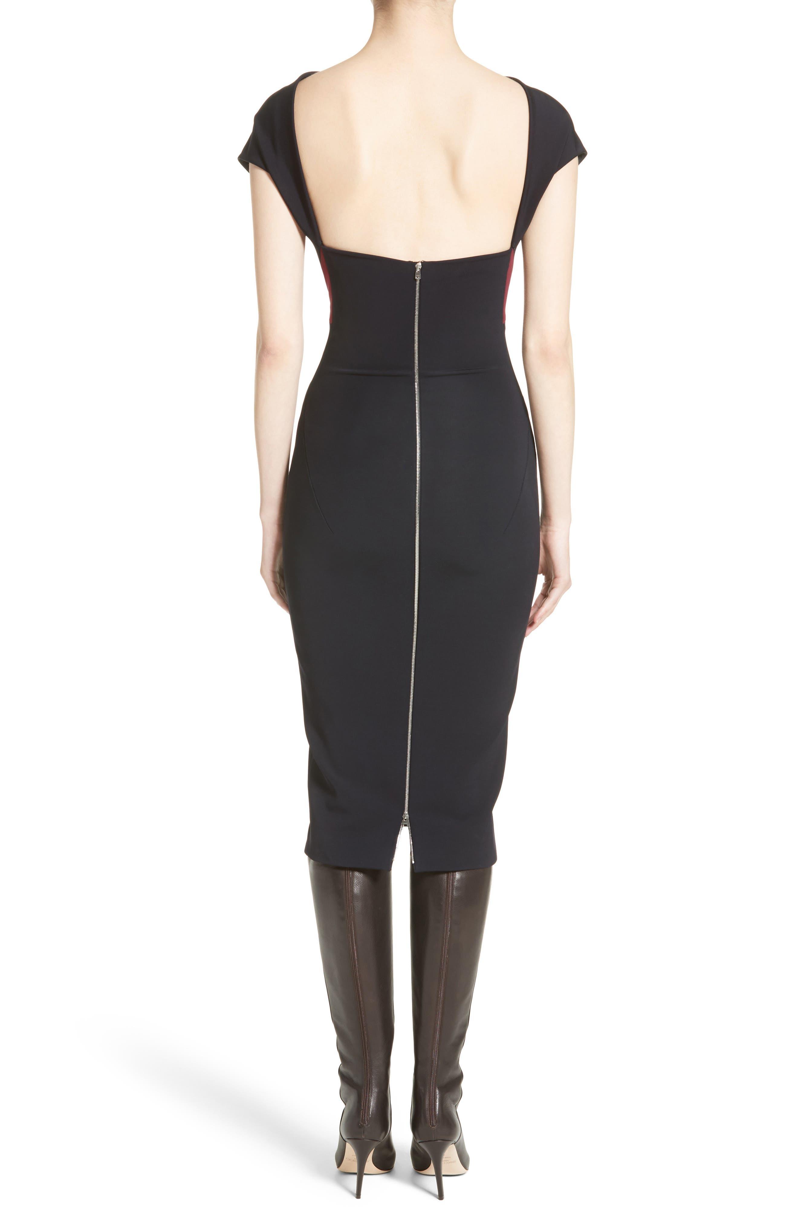 Alternate Image 2  - Victoria Beckham Open Back Rib Knit Dress