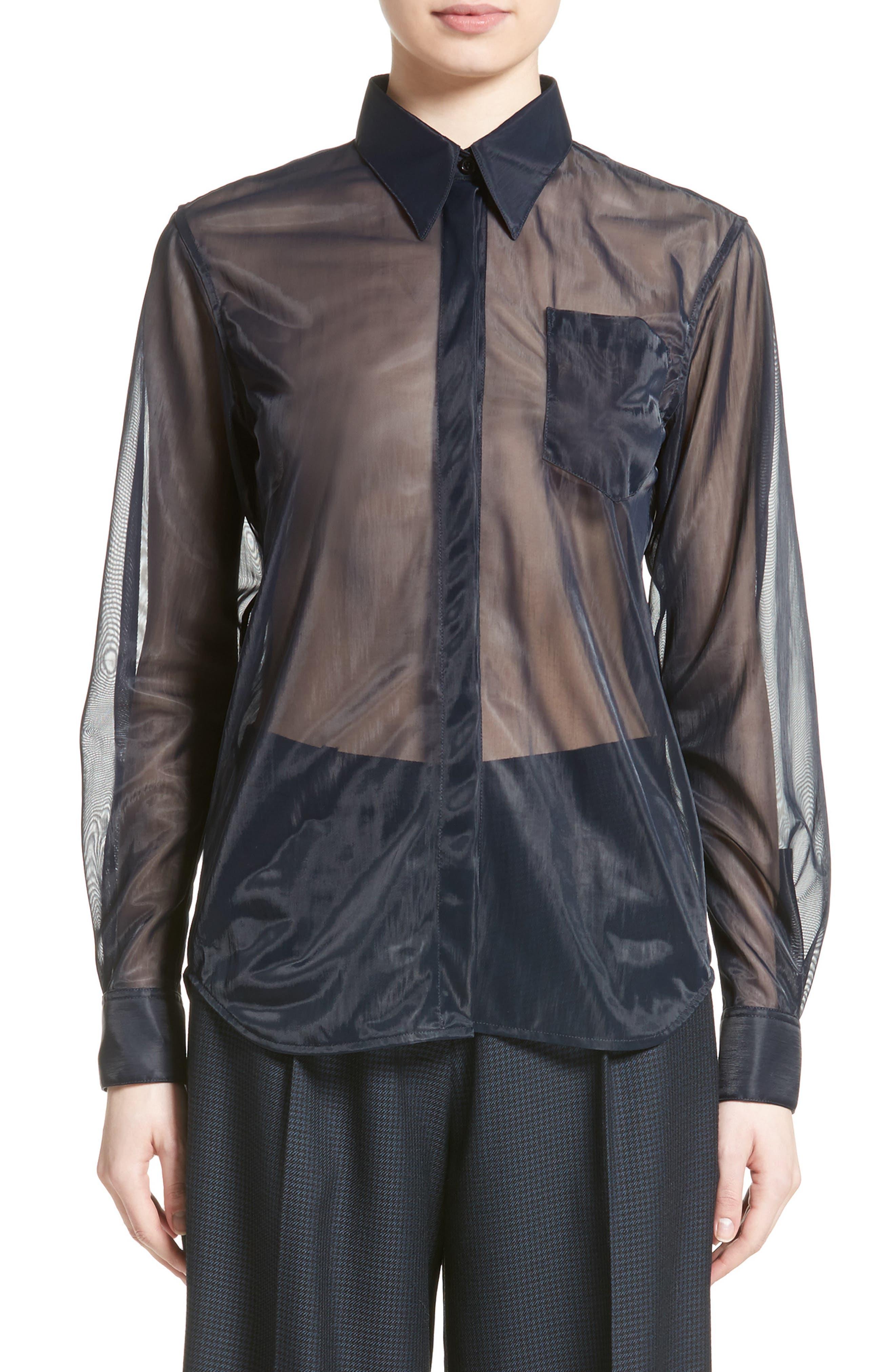 Victoria Beckham Jersey Mesh Patch Pocket Shirt