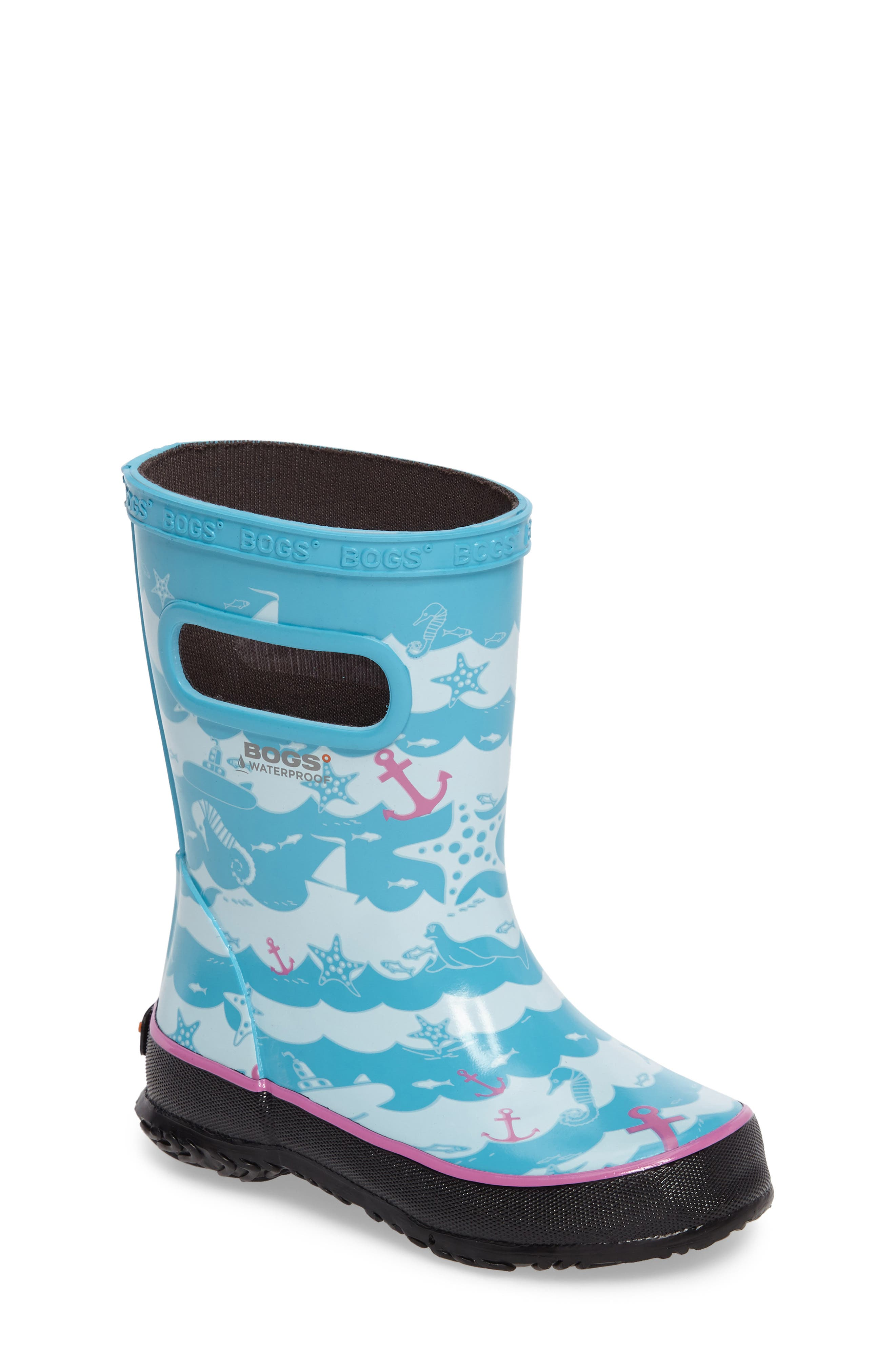 Bogs Skipper at Sea Rubber Rain Boot (Baby, Walker, Toddler & Little Kid)