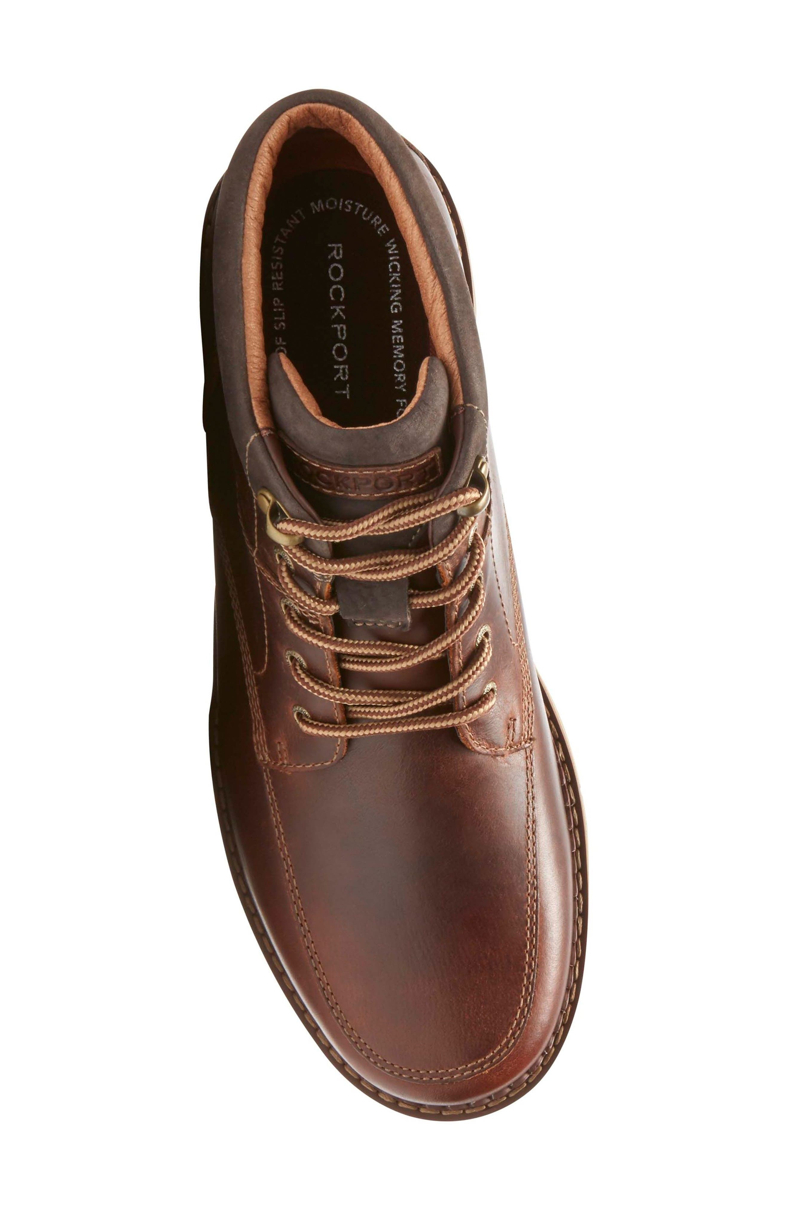 Centry Moc Toe Boot,                             Alternate thumbnail 5, color,                             Brown Leather