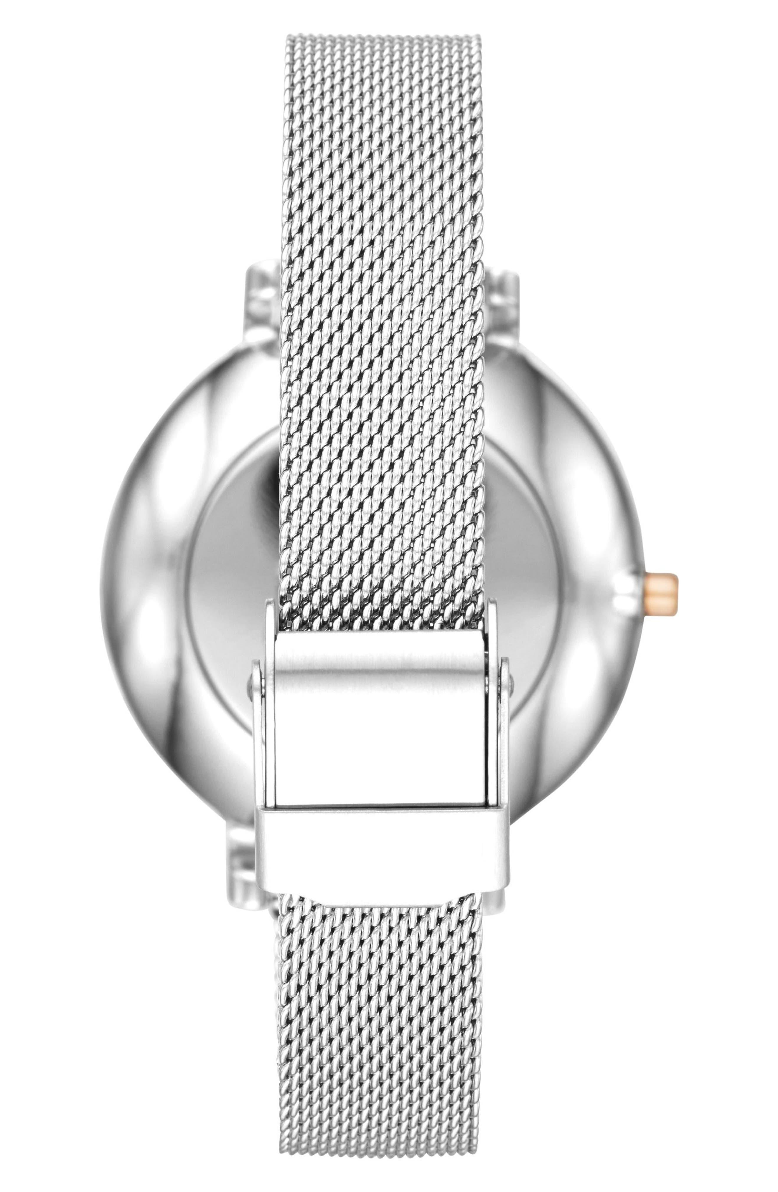 Alternate Image 2  - Skagen Hagen Mesh Strap Watch, 34mm
