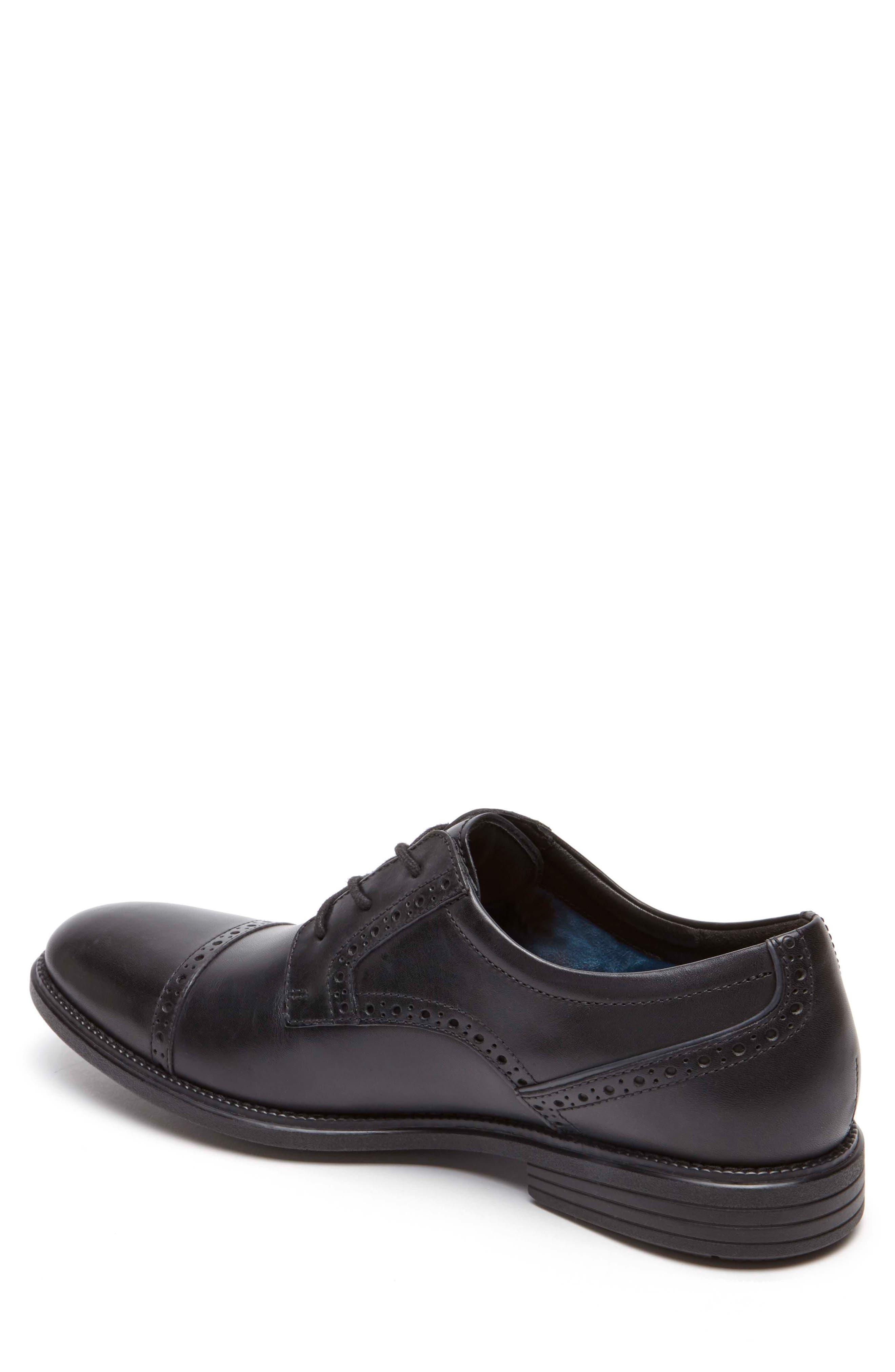Madson Cap Toe Derby,                             Alternate thumbnail 2, color,                             Black Leather