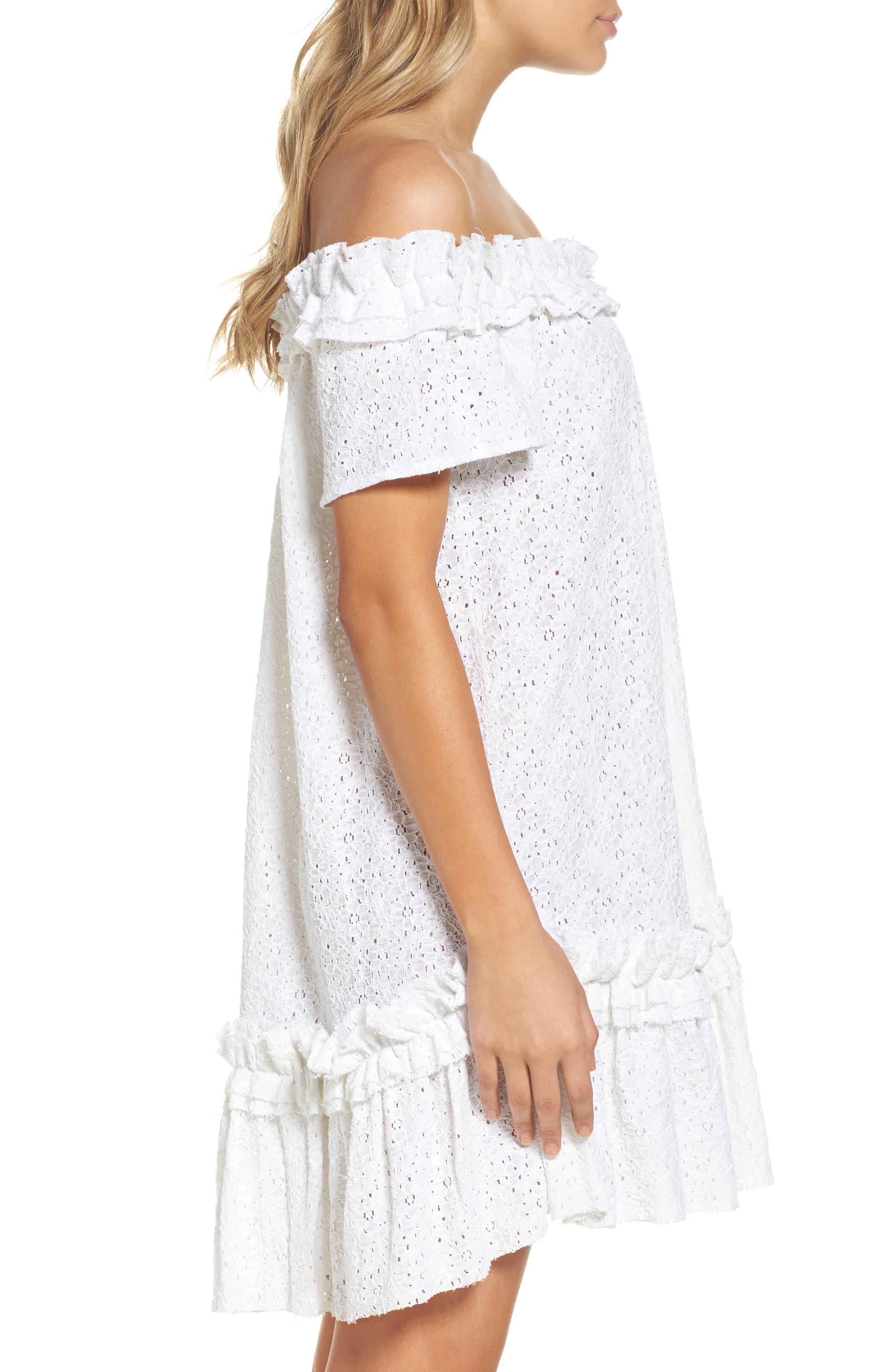 Mojito Cover-Up Dress,                             Alternate thumbnail 3, color,                             White