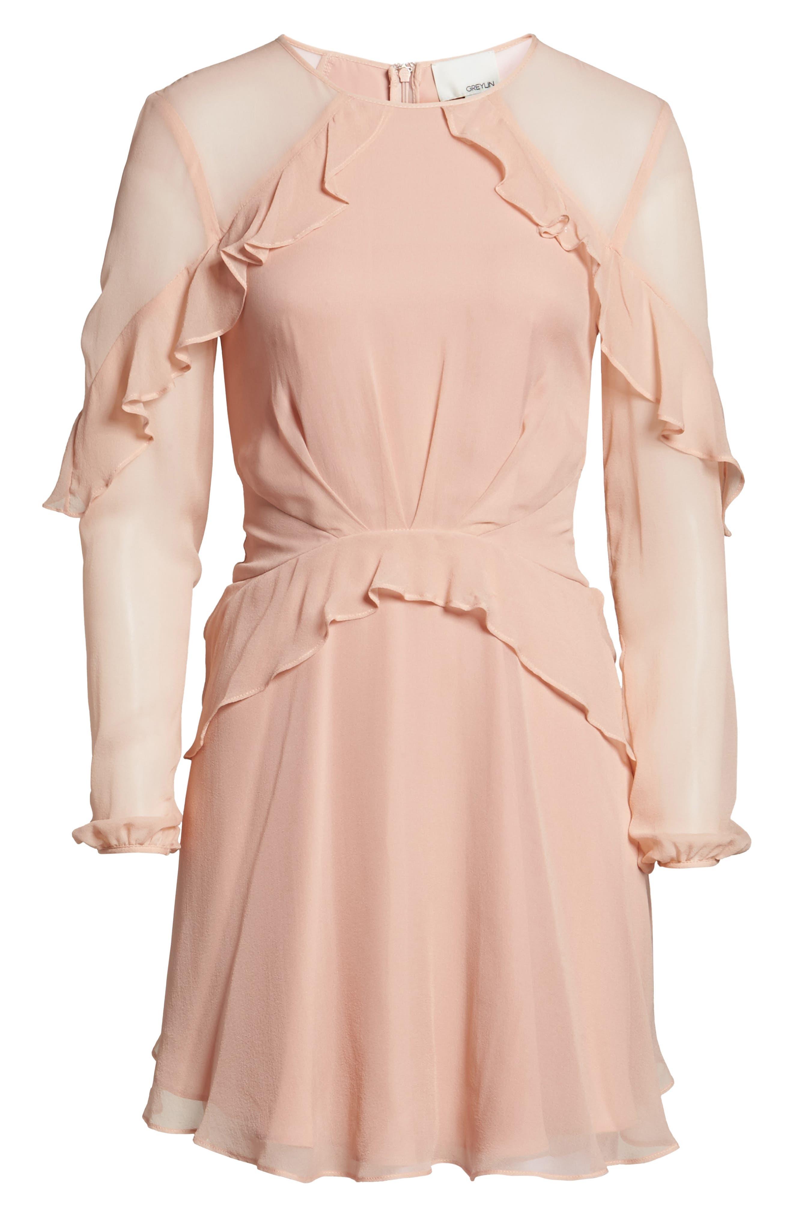 Alternate Image 7  - Greylin Libbie Ruffle Silk Dress