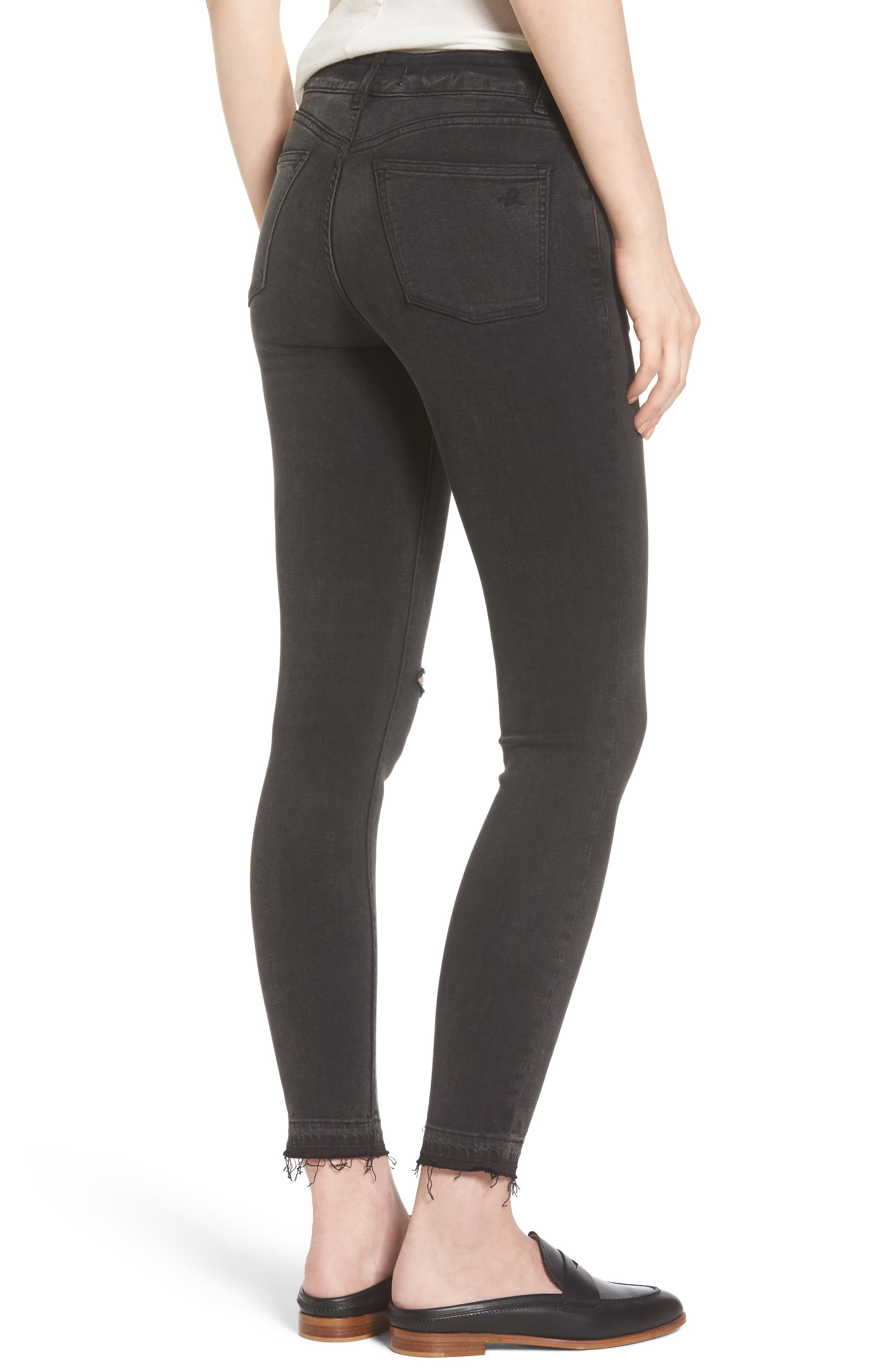 Margaux Instasculpt Ankle Skinny Jeans,                             Alternate thumbnail 2, color,                             Smokey River