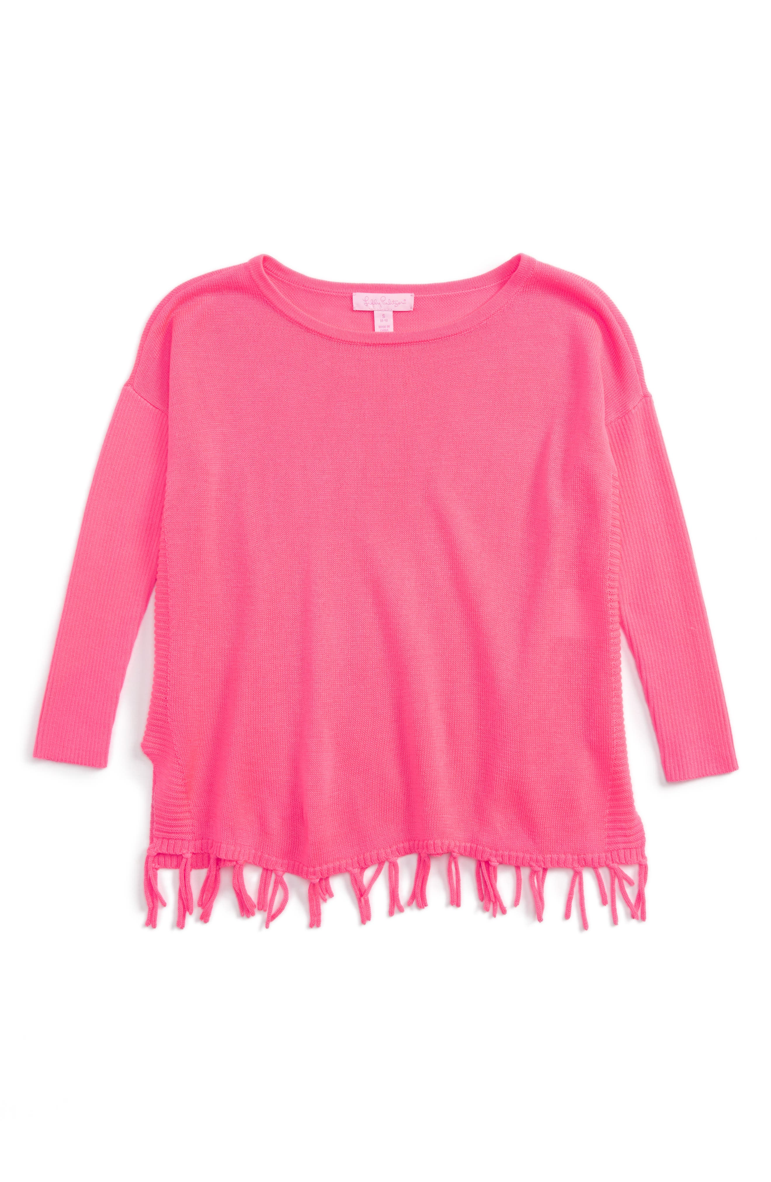 Lilly Pulizter<sup>®</sup> Mini Ramona Sweater,                             Main thumbnail 1, color,                             Colony Coral