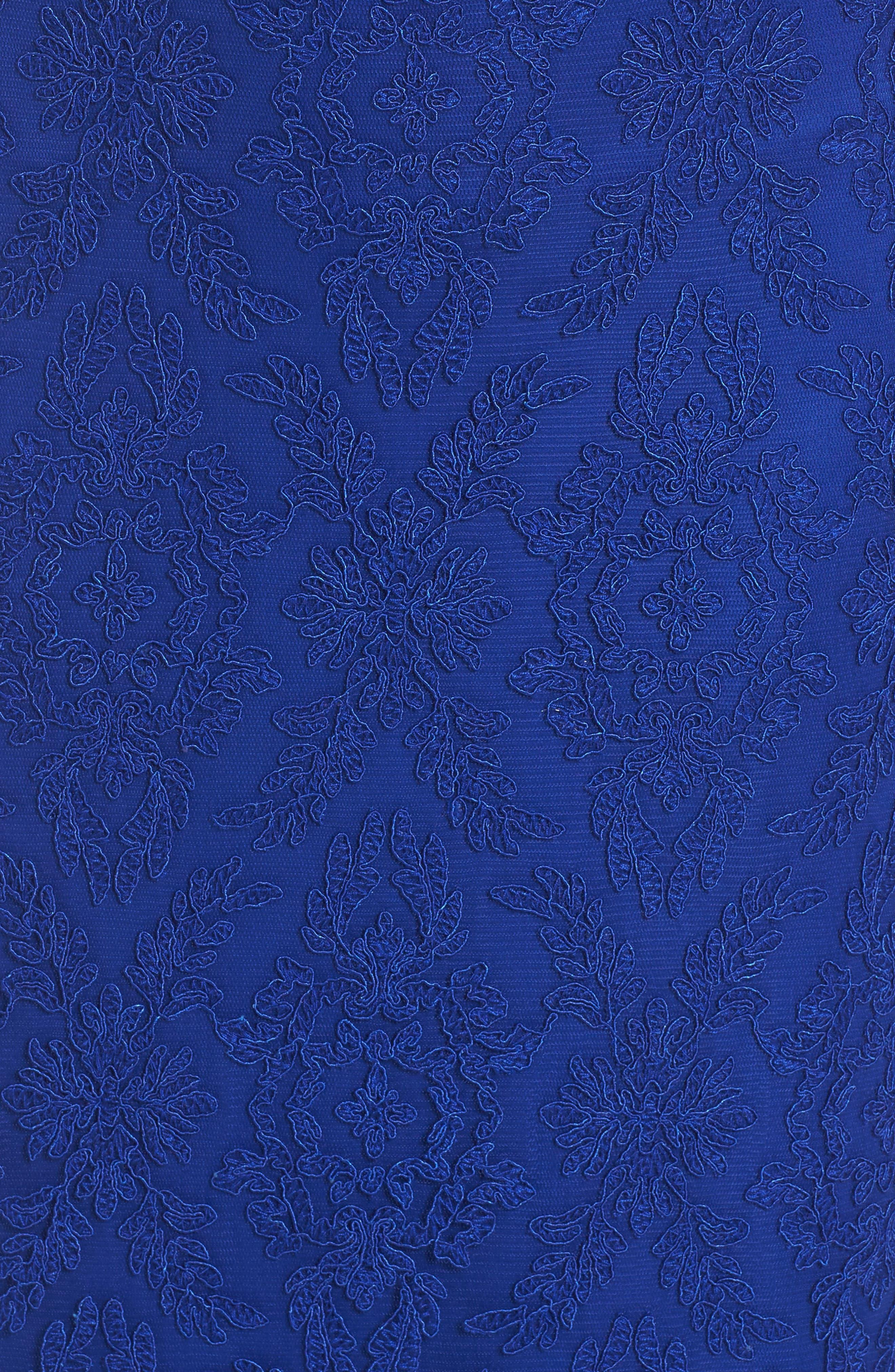 Alternate Image 5  - Tadashi Shoji Corded Lace Blouson Gown (Regular & Petite)