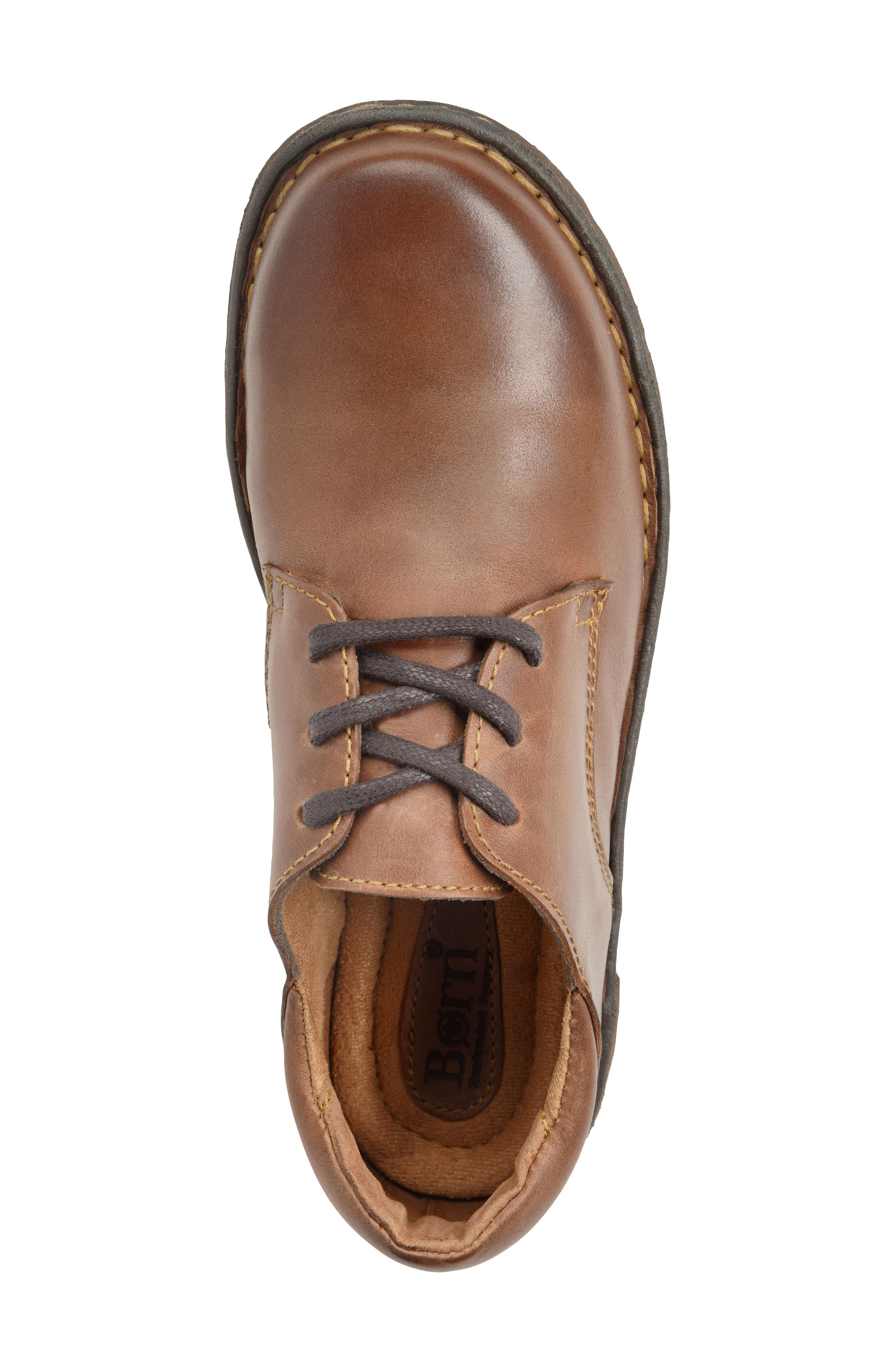 Motto Oxford,                             Alternate thumbnail 5, color,                             Brown Leather