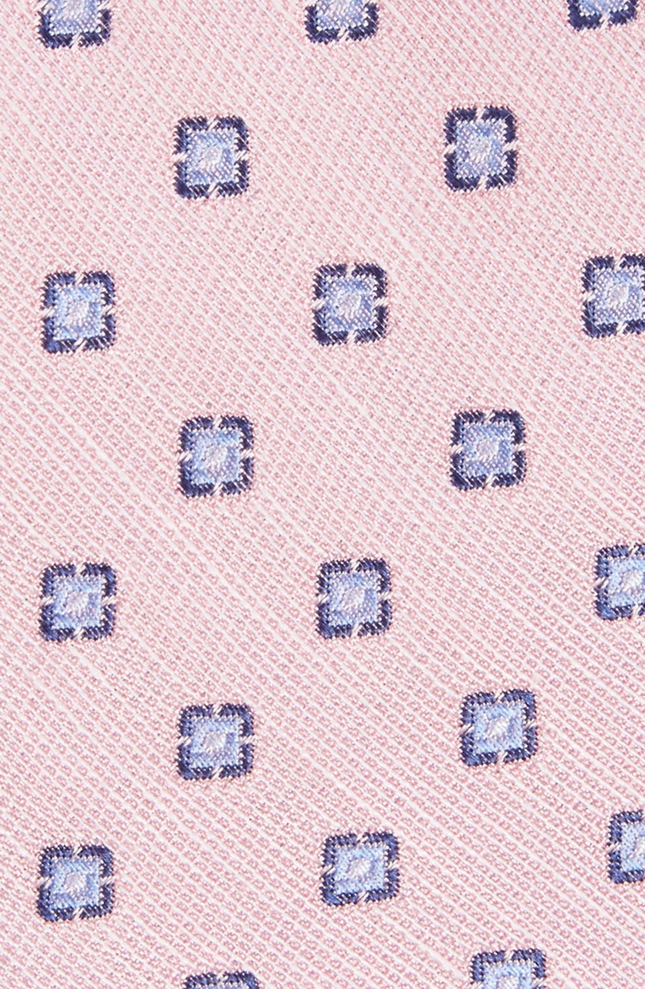 Medallion Scene Silk & Linen Tie,                             Alternate thumbnail 2, color,                             Baby Pink