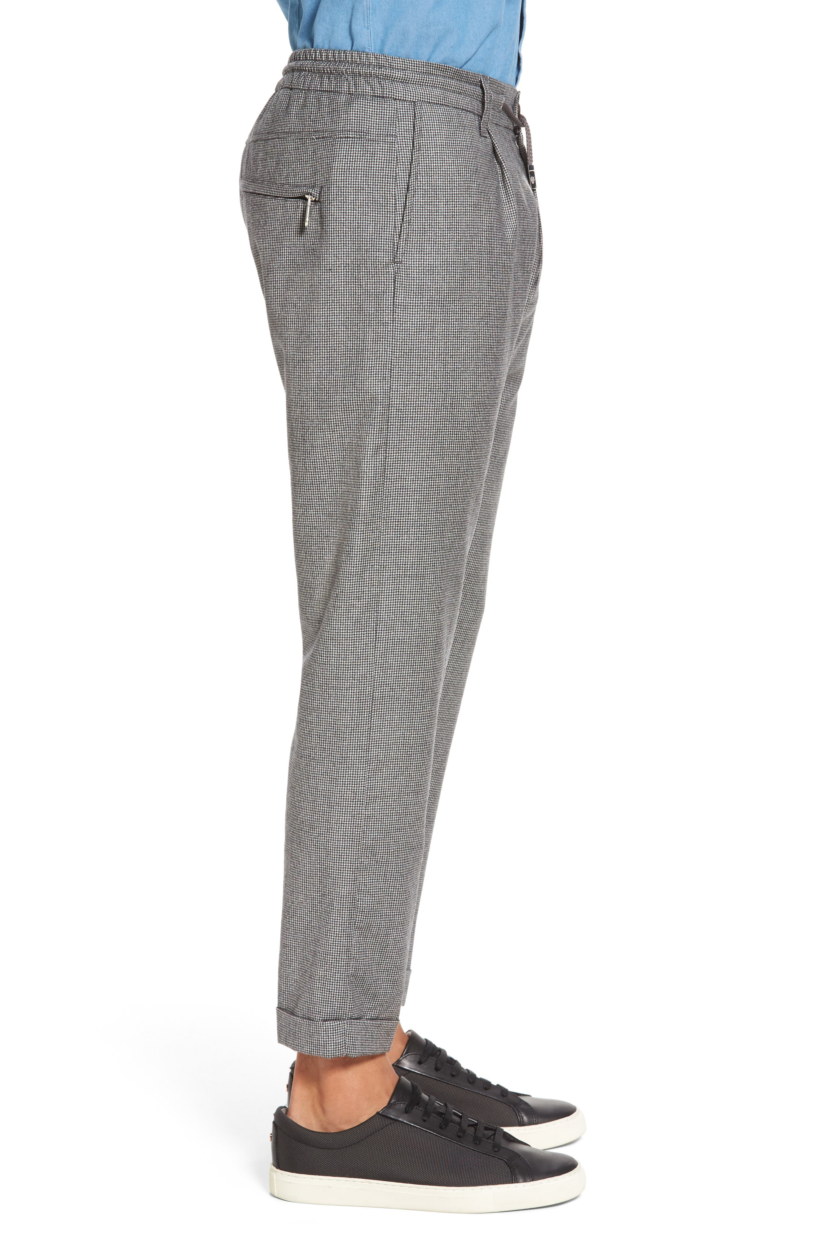 Alternate Image 3  - Eleventy Houndstooth Wool Drawstring Jogger Pants