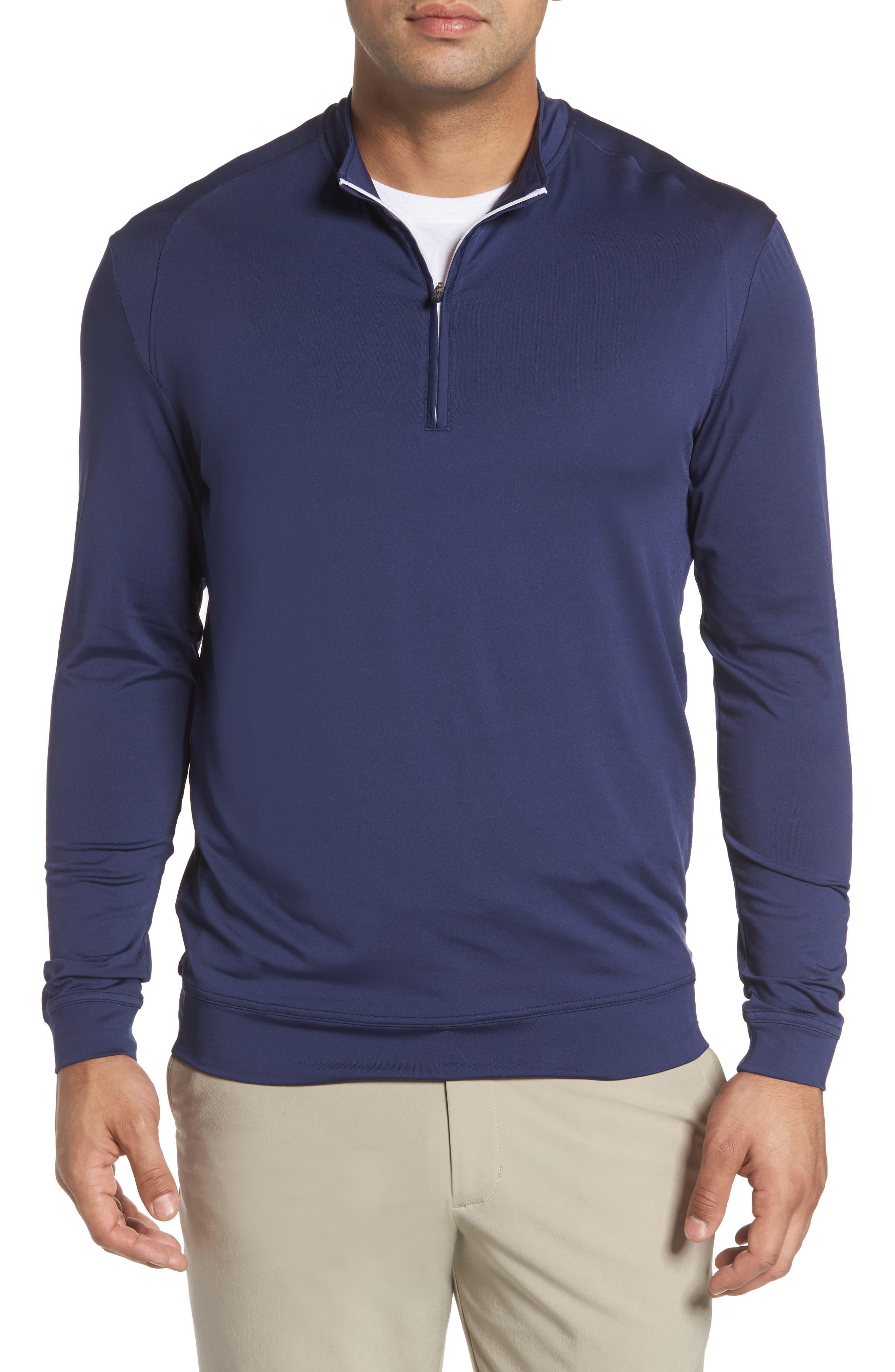 Flex Classic Fit Quarter Zip Pullover,                         Main,                         color, Twilight