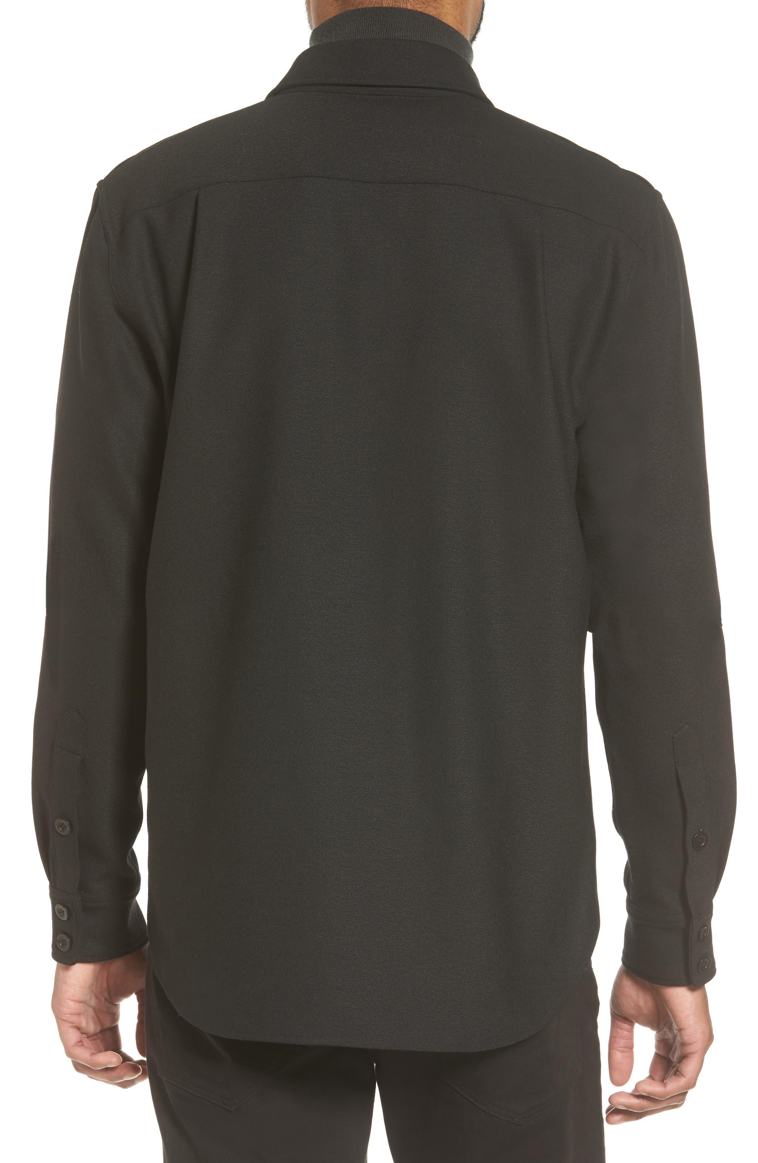 Regular Fit Sport Shirt,                             Alternate thumbnail 2, color,                             Black