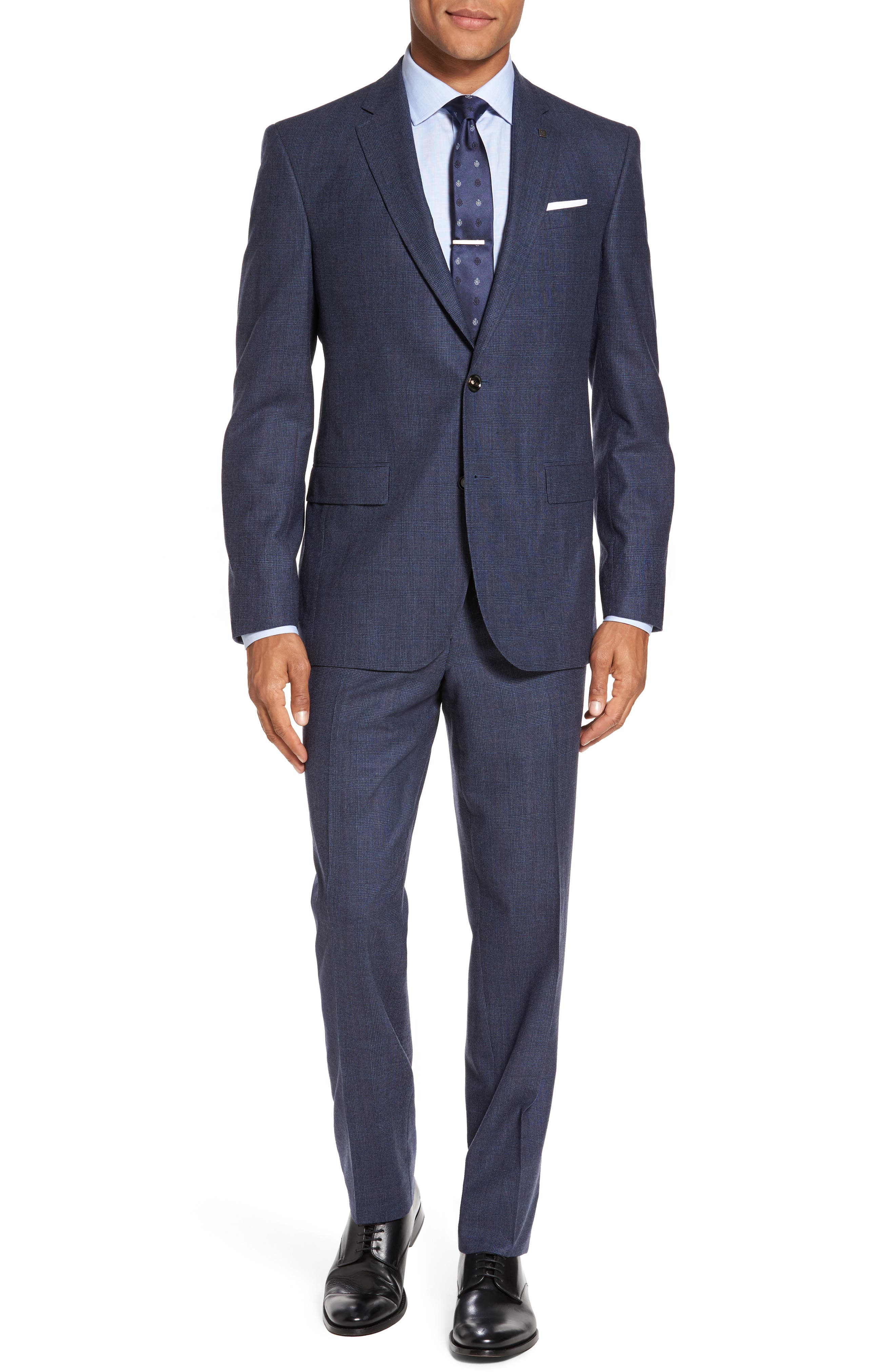 Main Image - Ted Baker London Jay Trim Fit Plaid Wool & Cashmere Suit