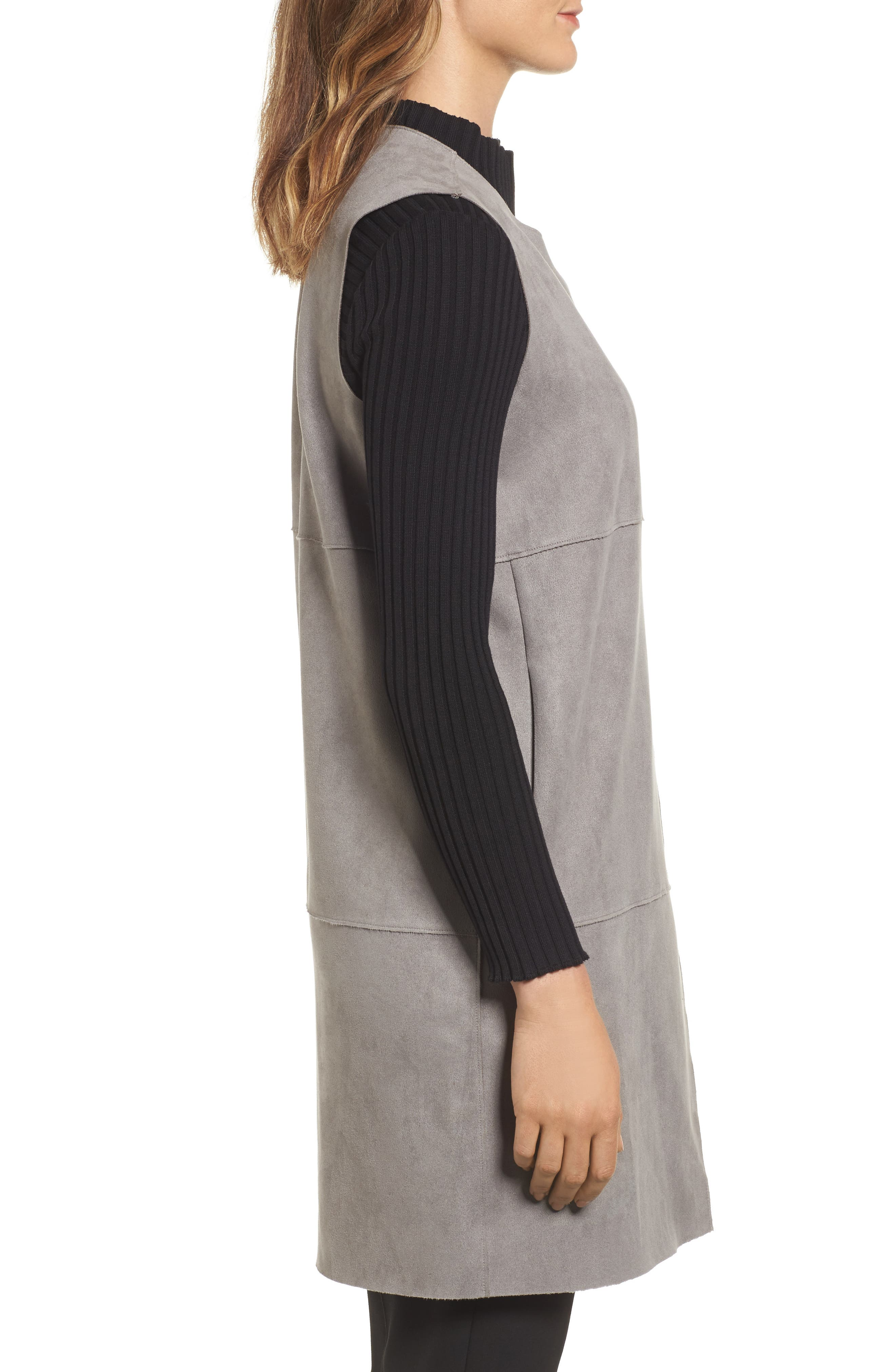 Alternate Image 3  - Ming Wang Asymmetrical Faux Suede Vest