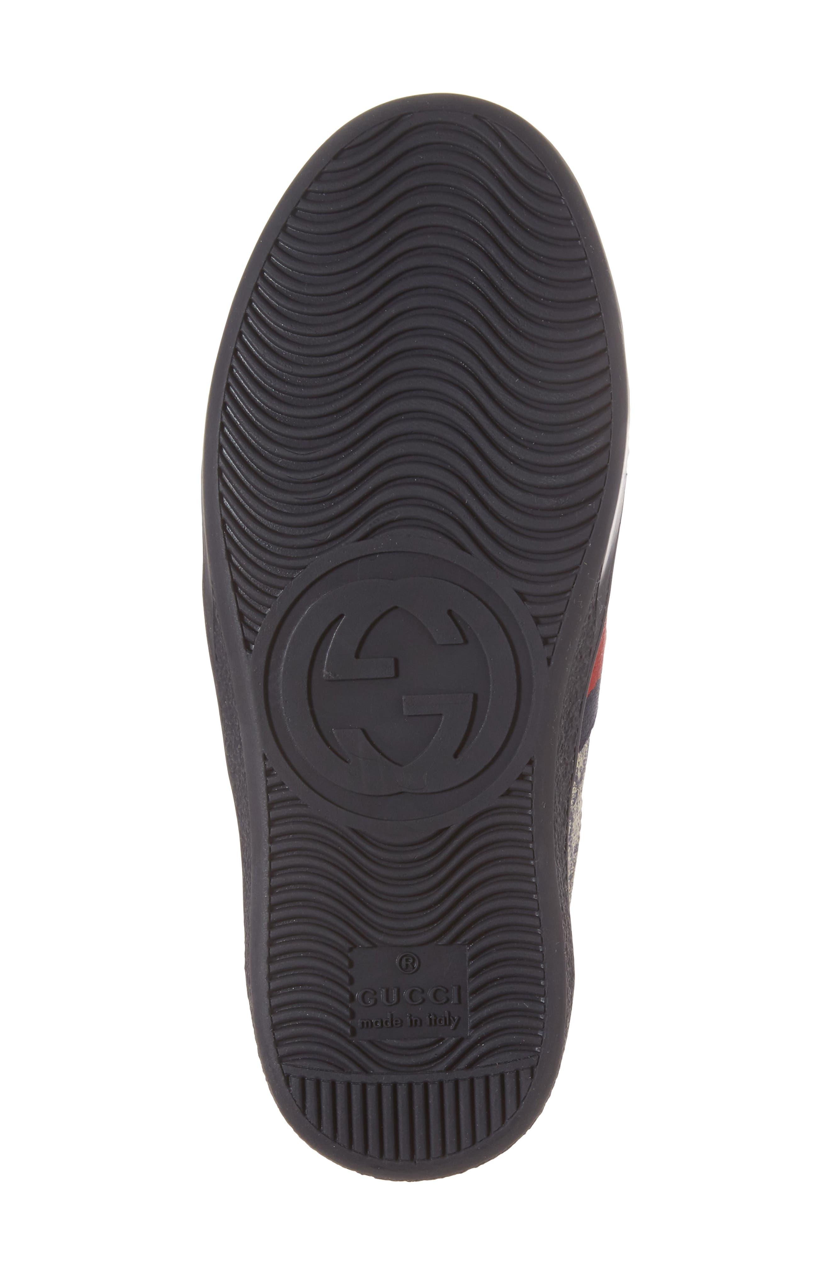 New Ace Monogram Sneaker,                             Alternate thumbnail 6, color,                             Beige/ Blue
