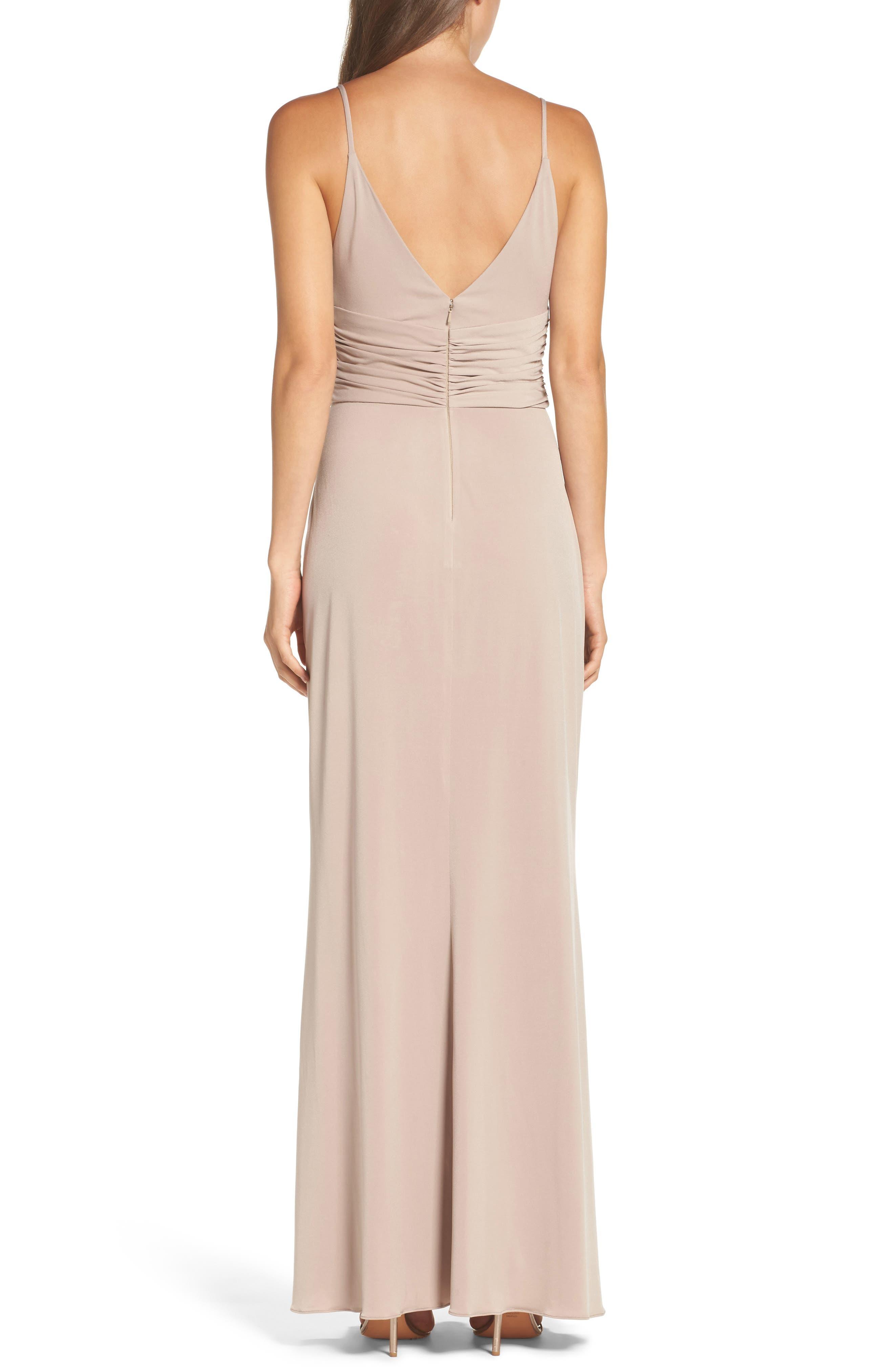 Alternate Image 2  - Amsale Celina Mock Wrap Gown