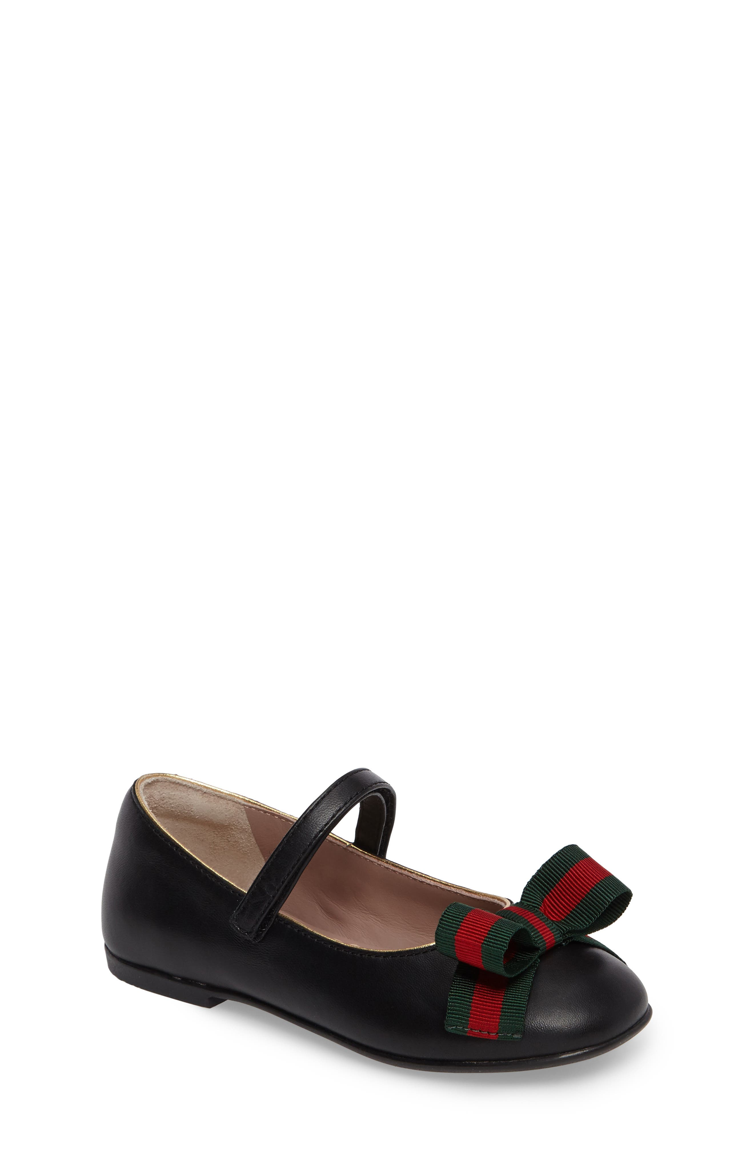 Alternate Image 1 Selected - Gucci Cindy Mary Jane Flat (Baby, Walker, Toddler & Little Kid)
