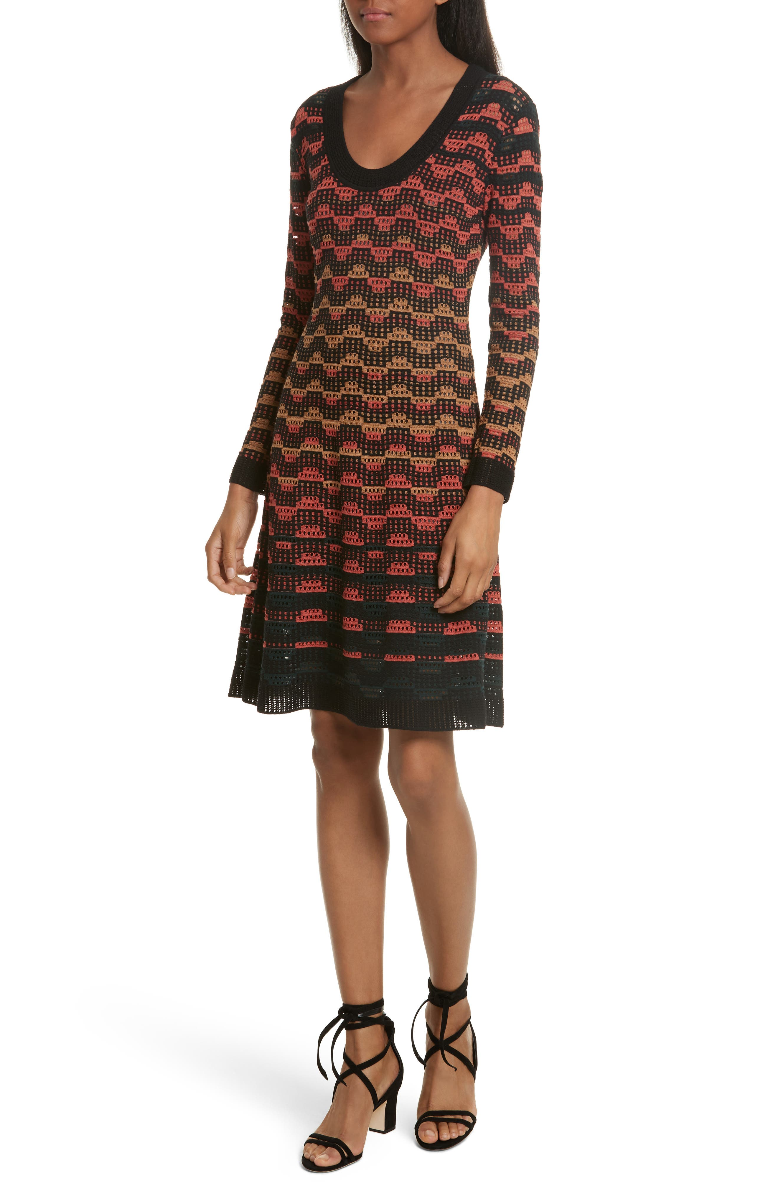 M Missoni Greek Open Knit Dress