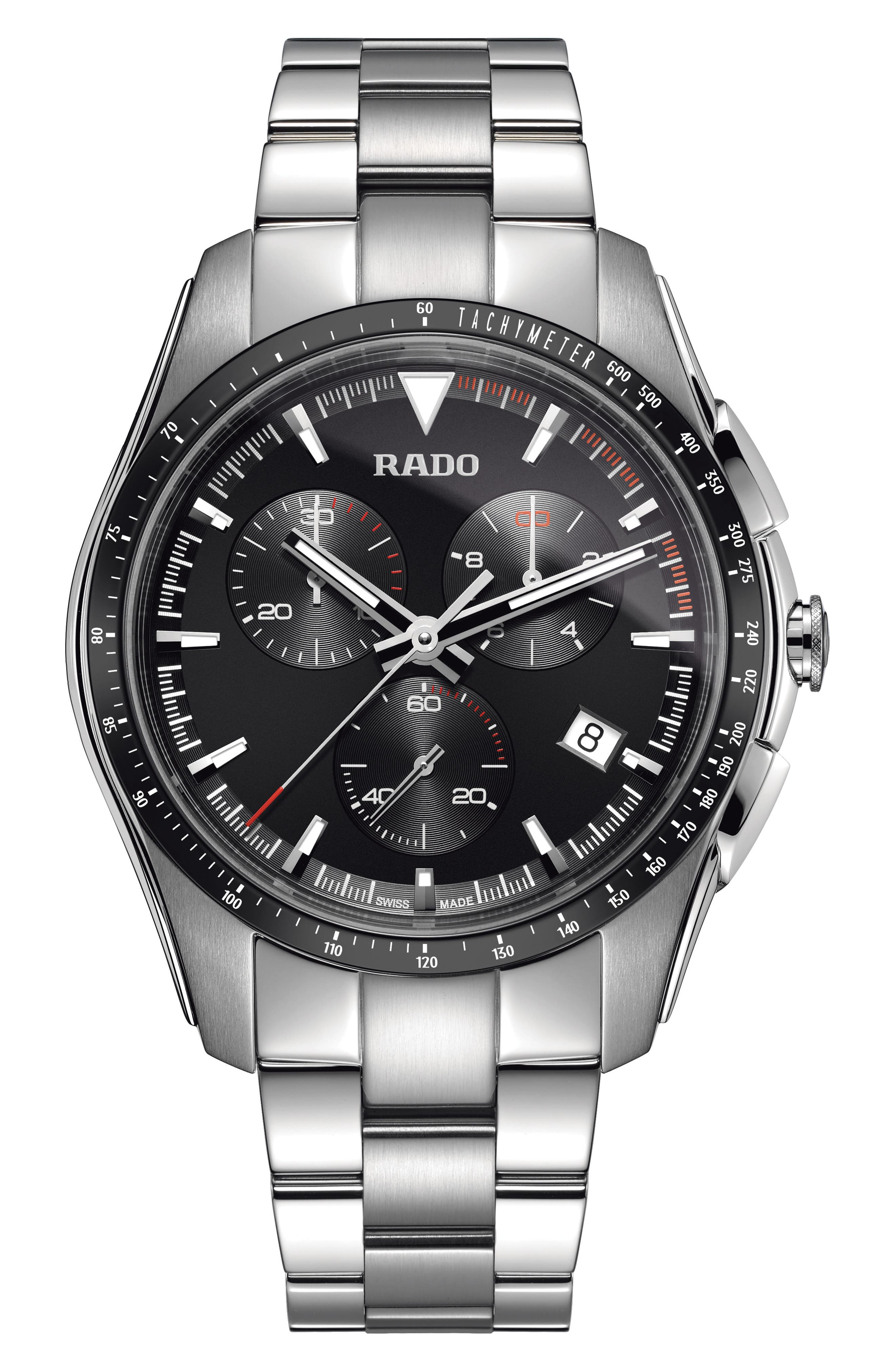 Main Image - RADO HyperChrome Chronograph Bracelet Watch, 45mm