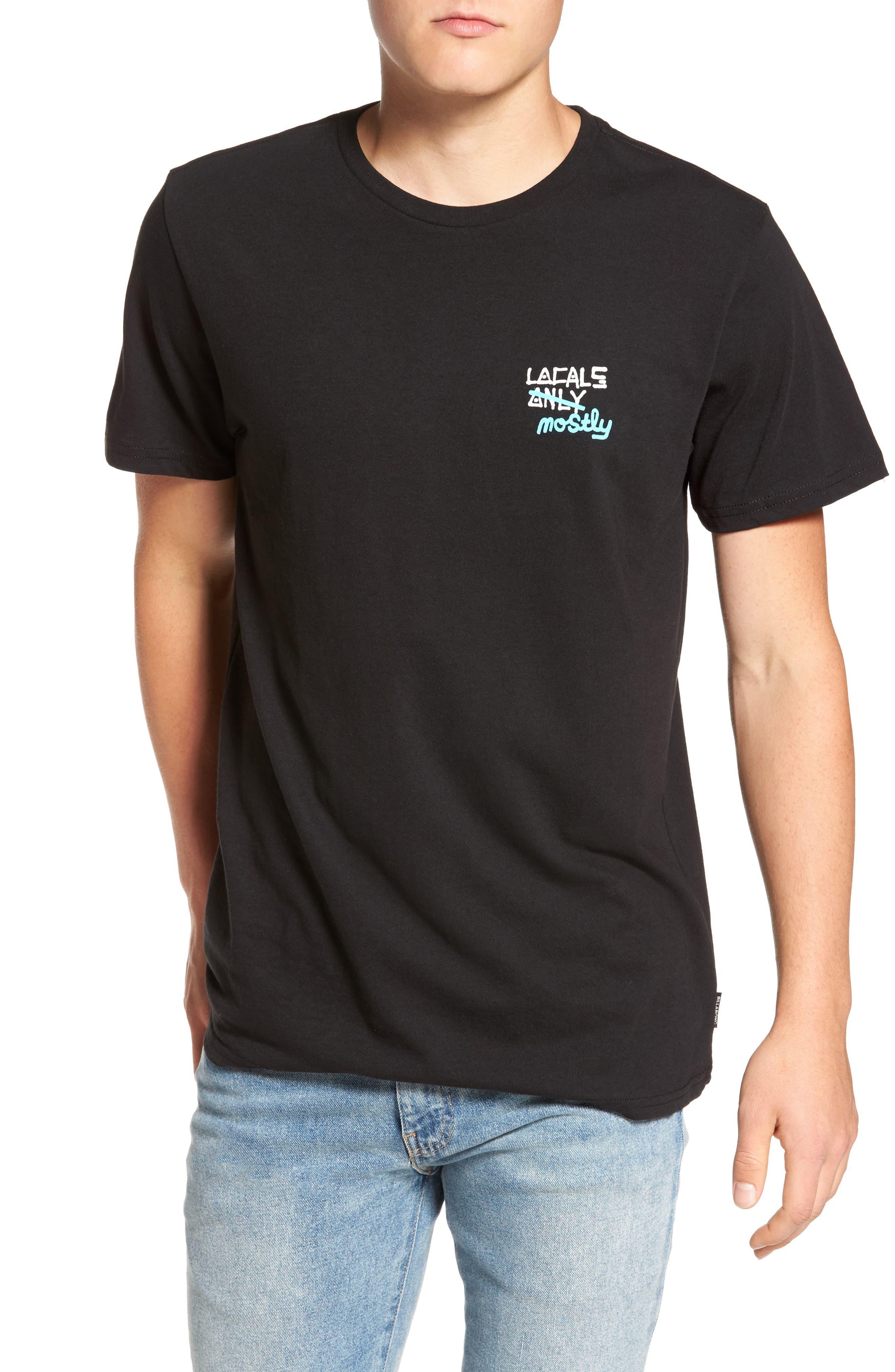 Locals Mostly Pelletier Graphic T-Shirt,                         Main,                         color, Black