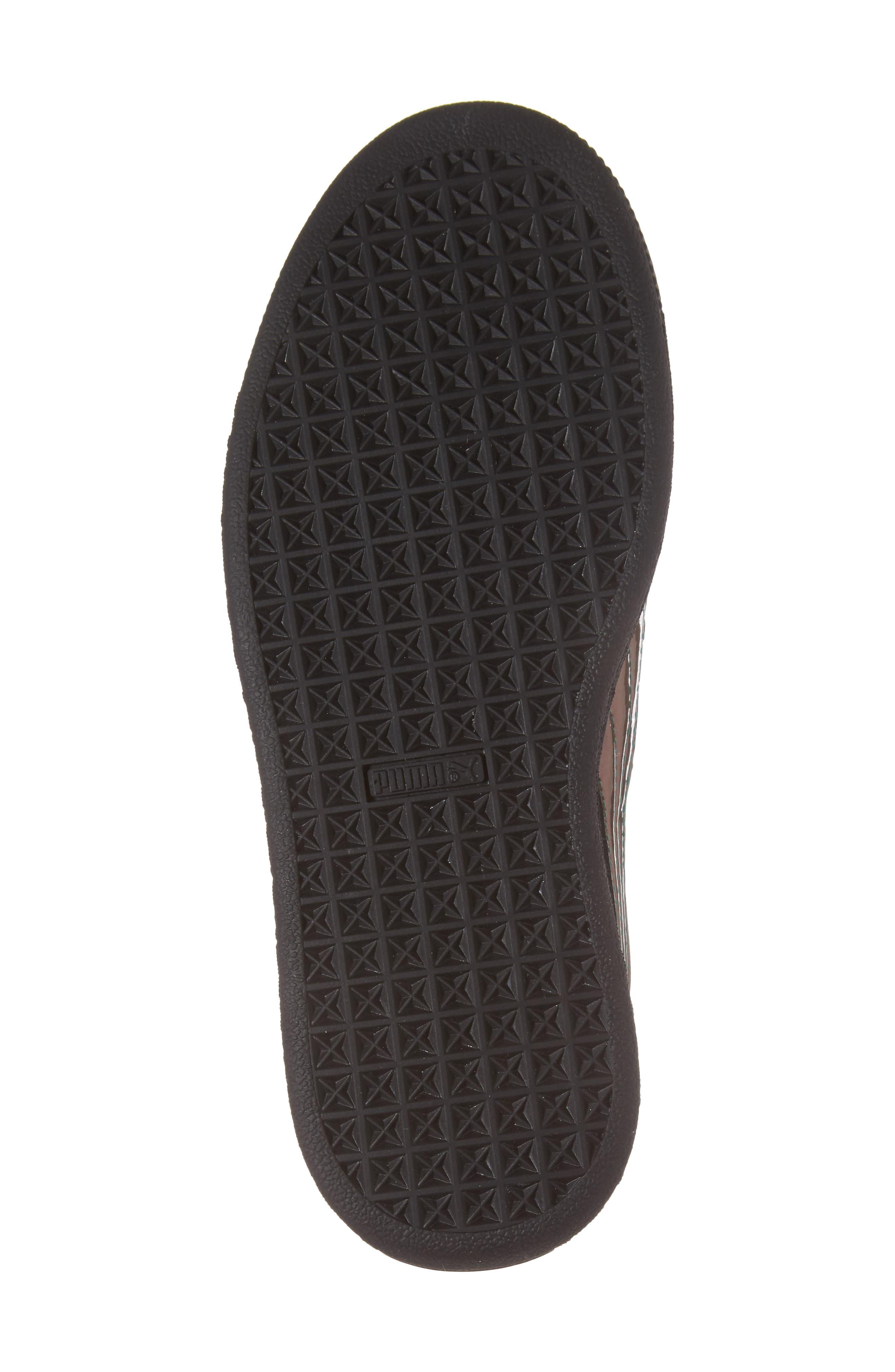 Basket Classic Holo PS Sneaker,                             Alternate thumbnail 6, color,                             Black/ Black