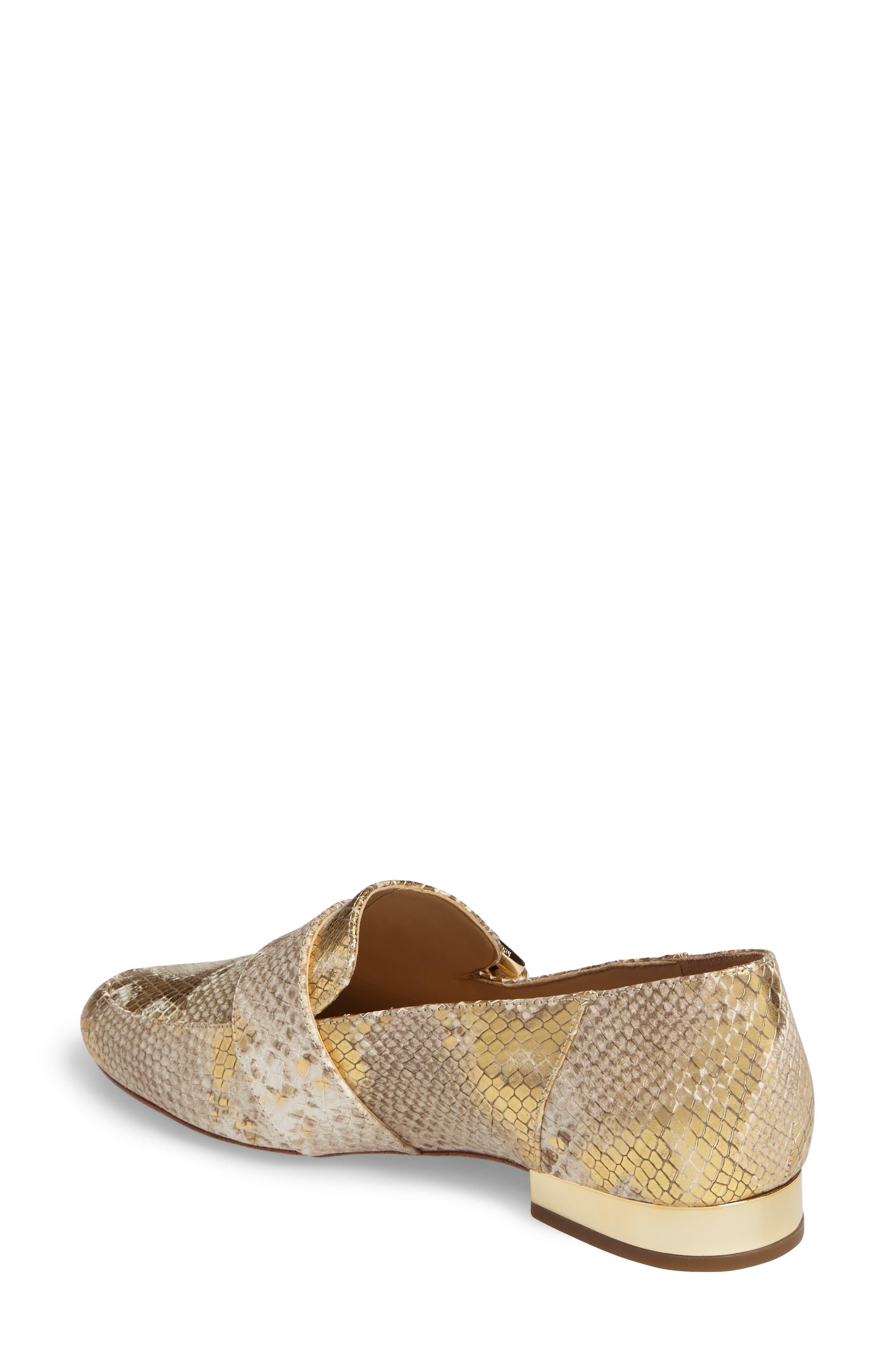 Cooper Loafer,                             Alternate thumbnail 2, color,                             Natural/ Gold Snakeskin