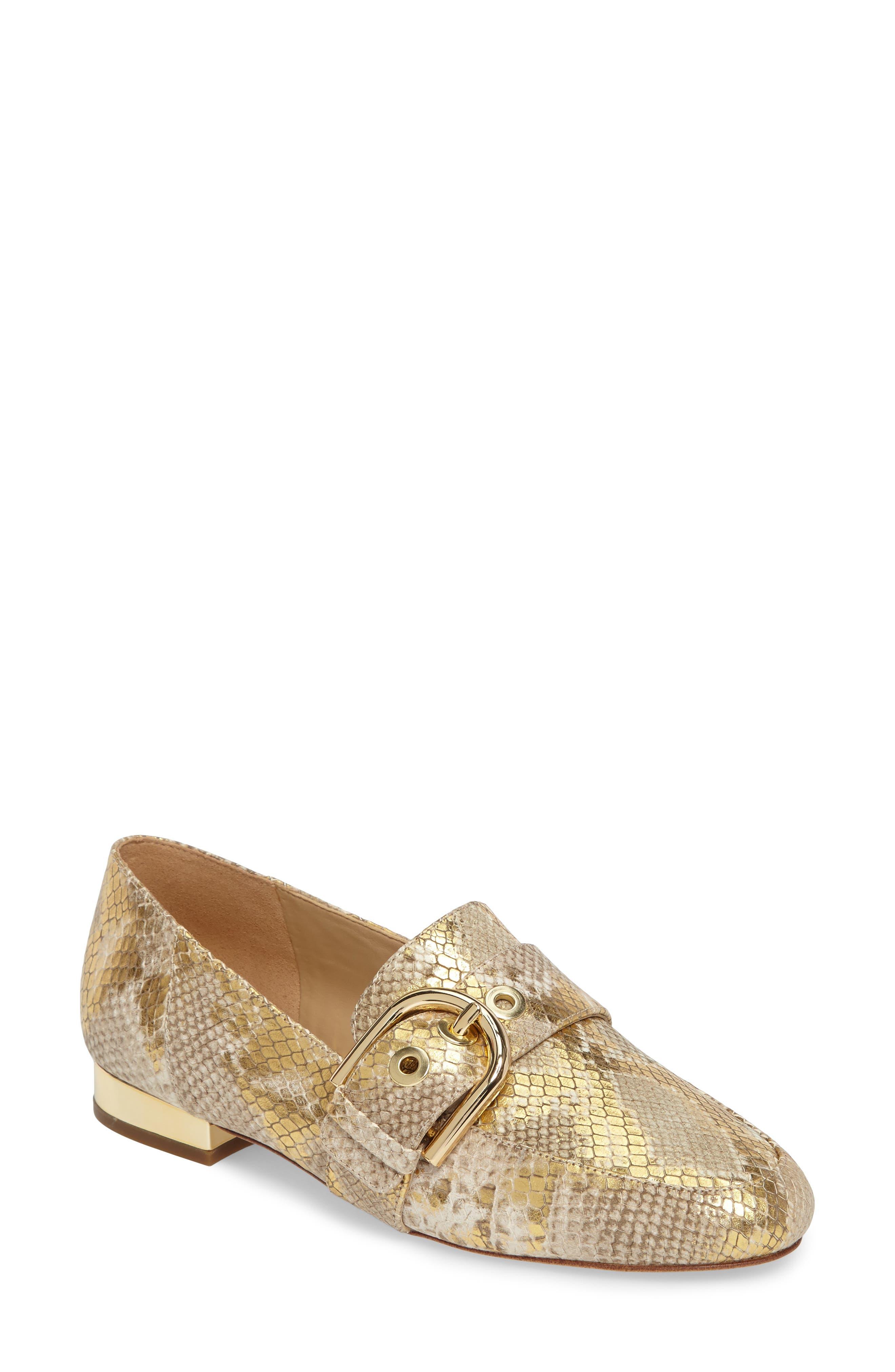 Cooper Loafer,                         Main,                         color, Natural/ Gold Snakeskin