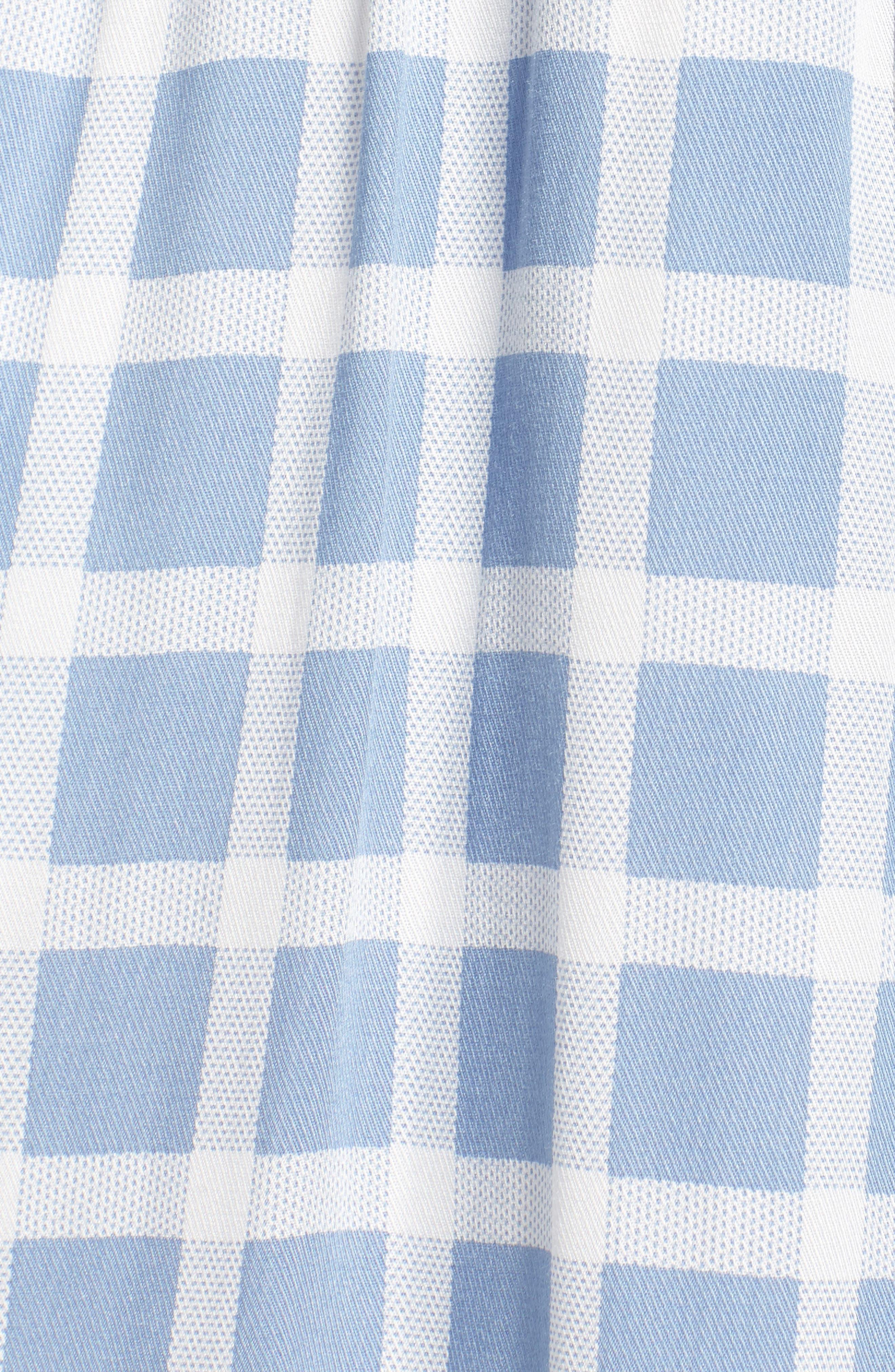 Daniella Plaid Shirtdress,                             Alternate thumbnail 5, color,                             Faded Denim