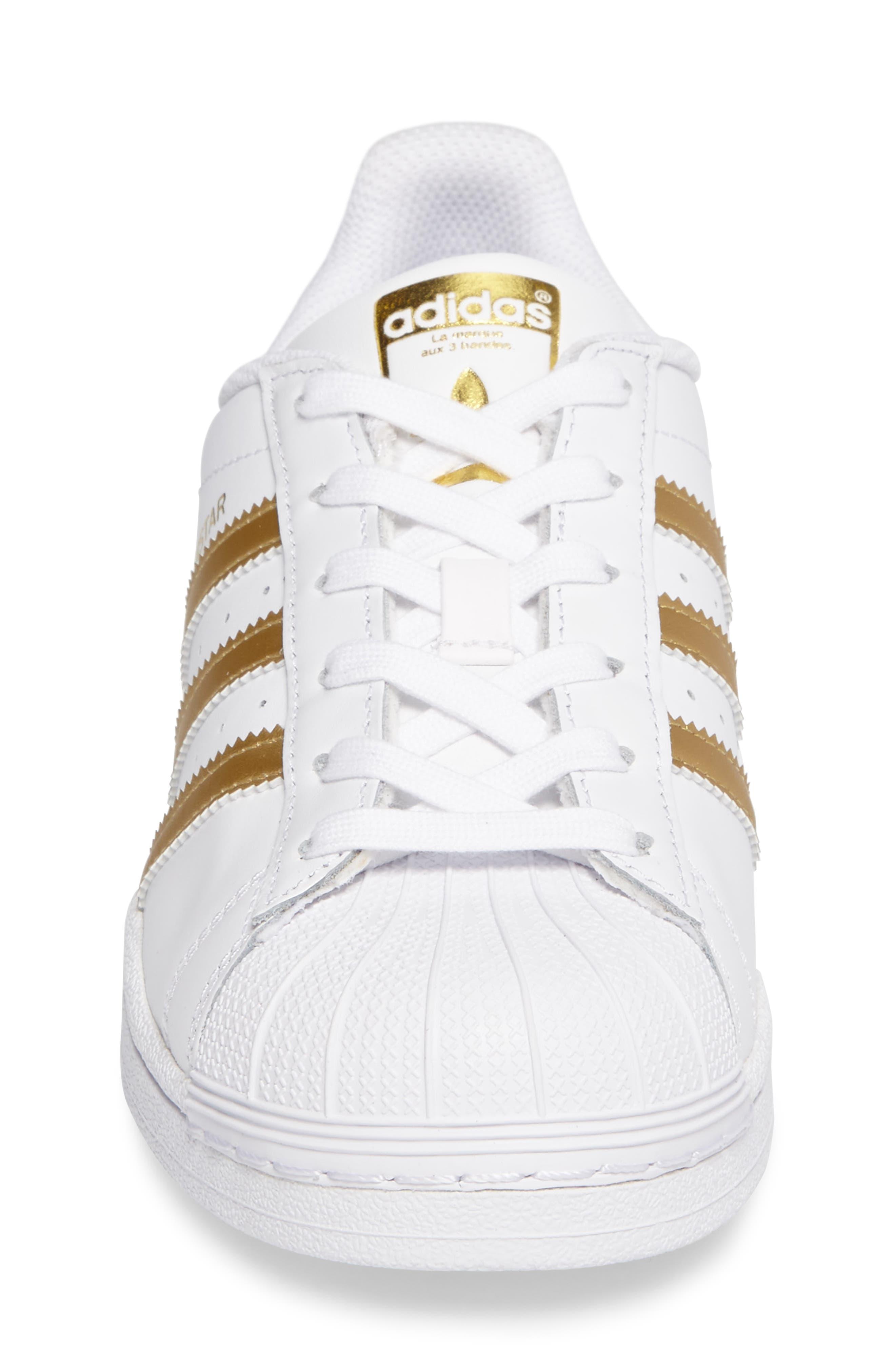 Alternate Image 4  - adidas Superstar J Sneaker (Big Kid)