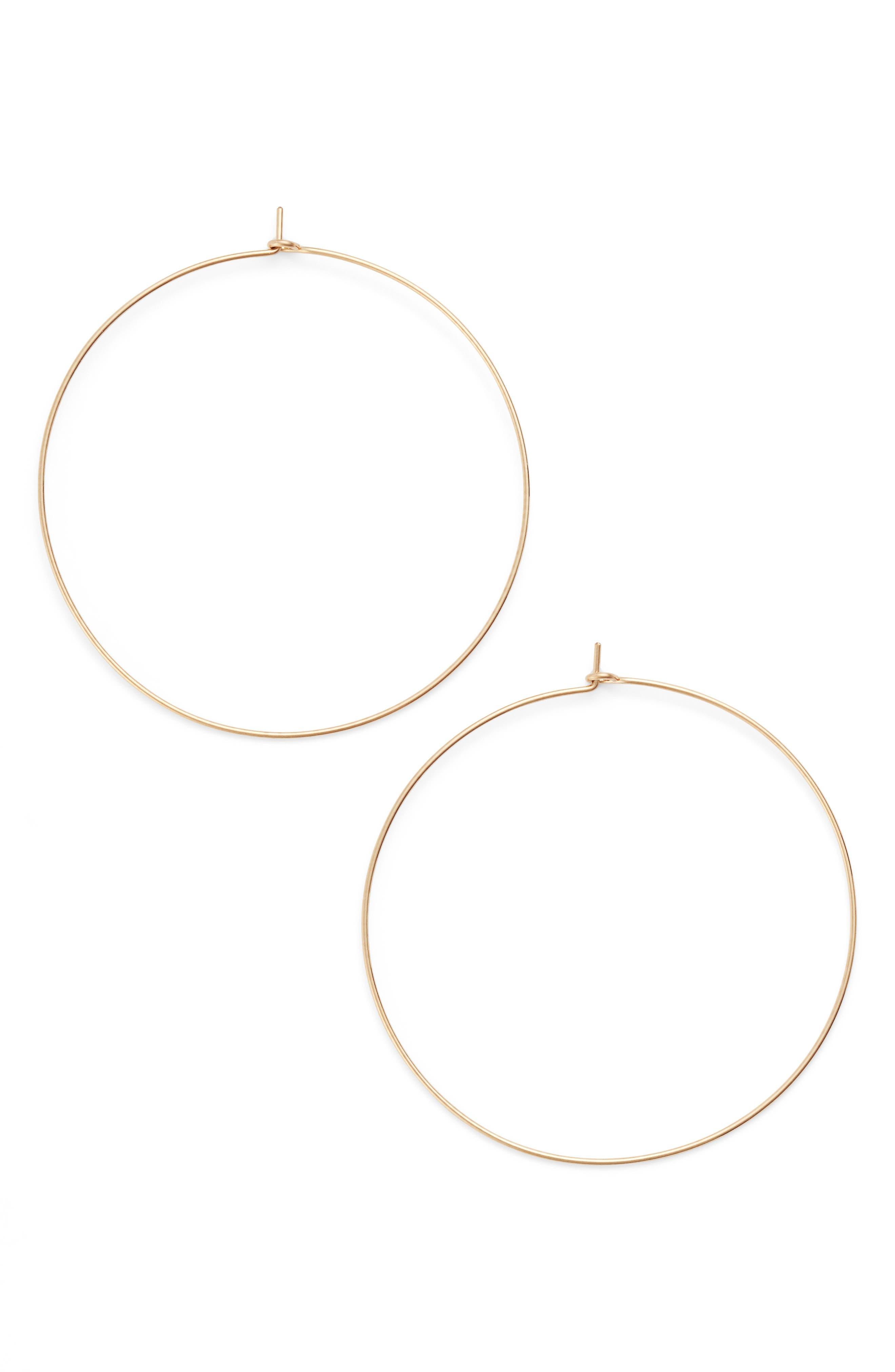 Alternate Image 1 Selected - Nashelle Extra Large Hoop Earrings