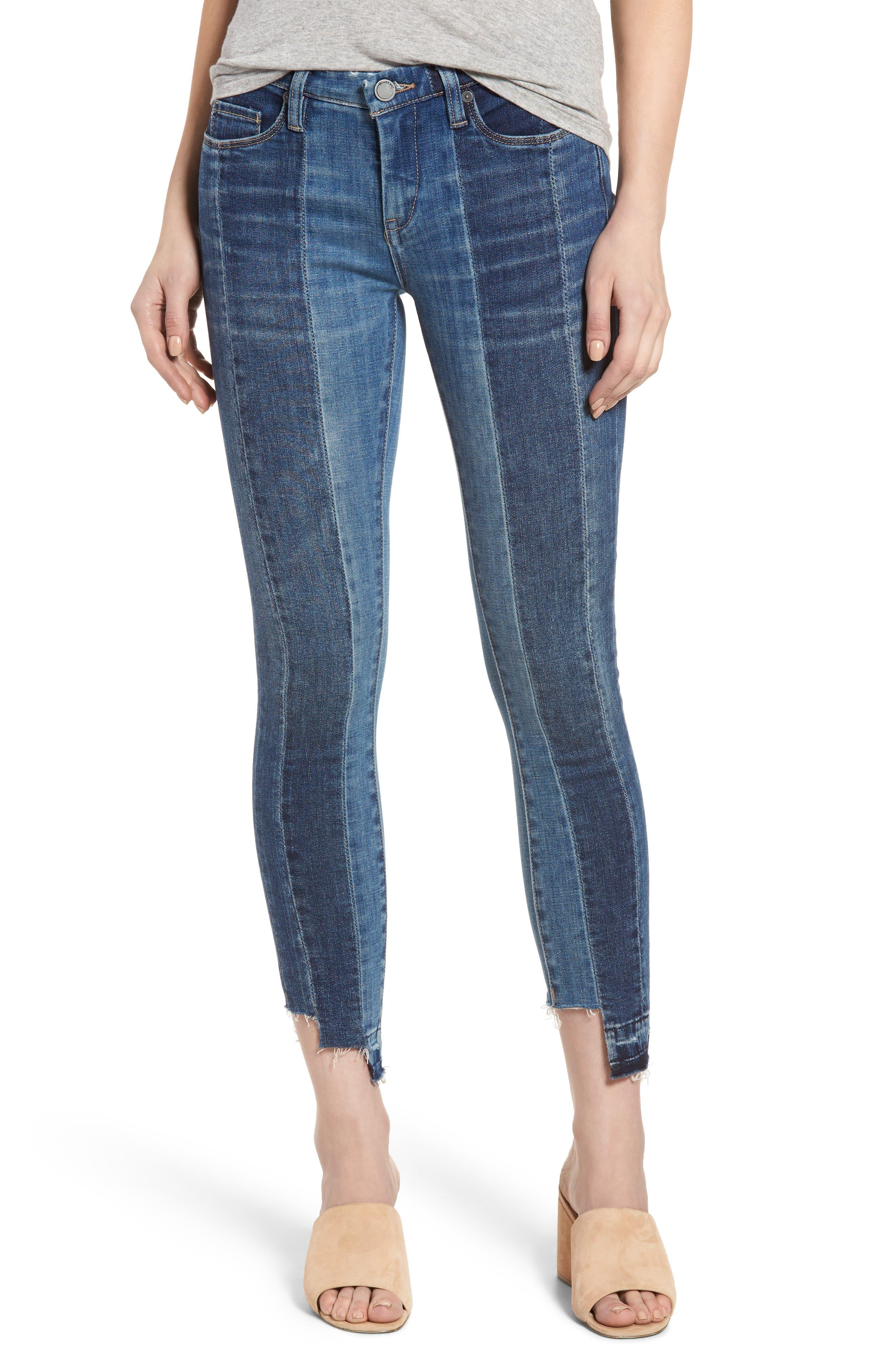 BLANKNYC Step Hem Skinny Jeans (High and Low)