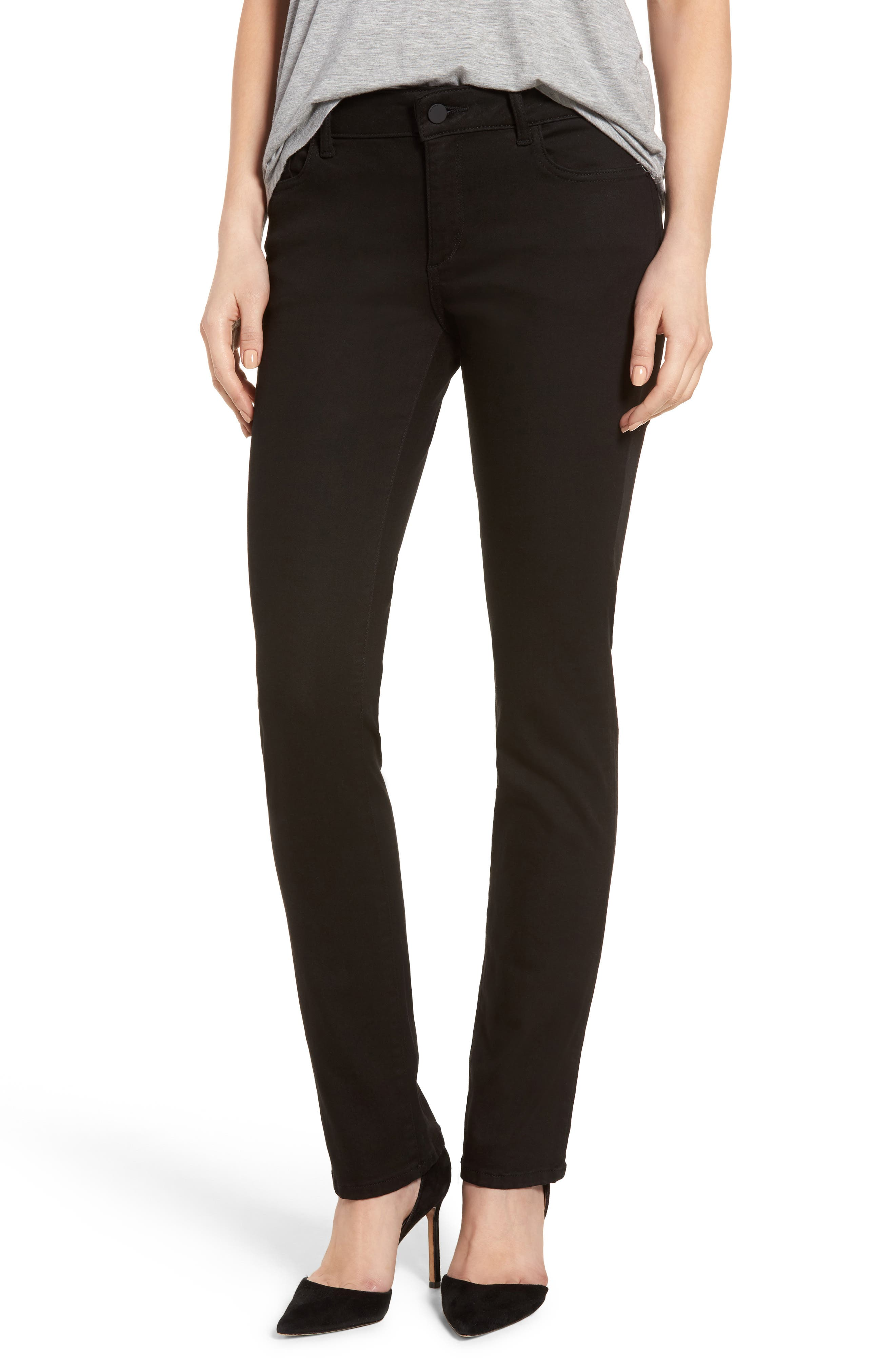 Alternate Image 1 Selected - DL1961 Coco Curvy Straight Leg Jeans (Hail)