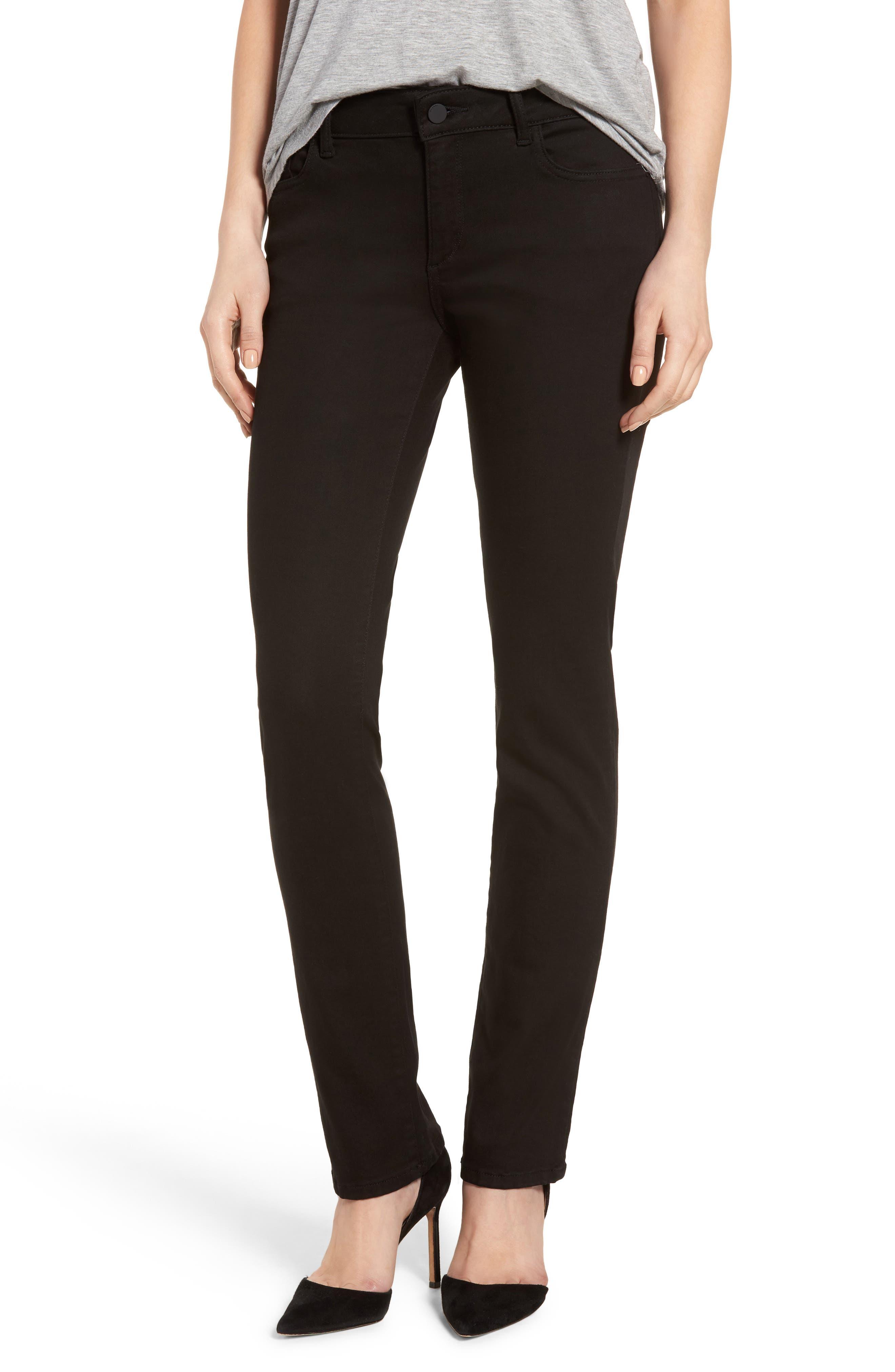 DL1961 Coco Curvy Straight Leg Jeans (Hail)