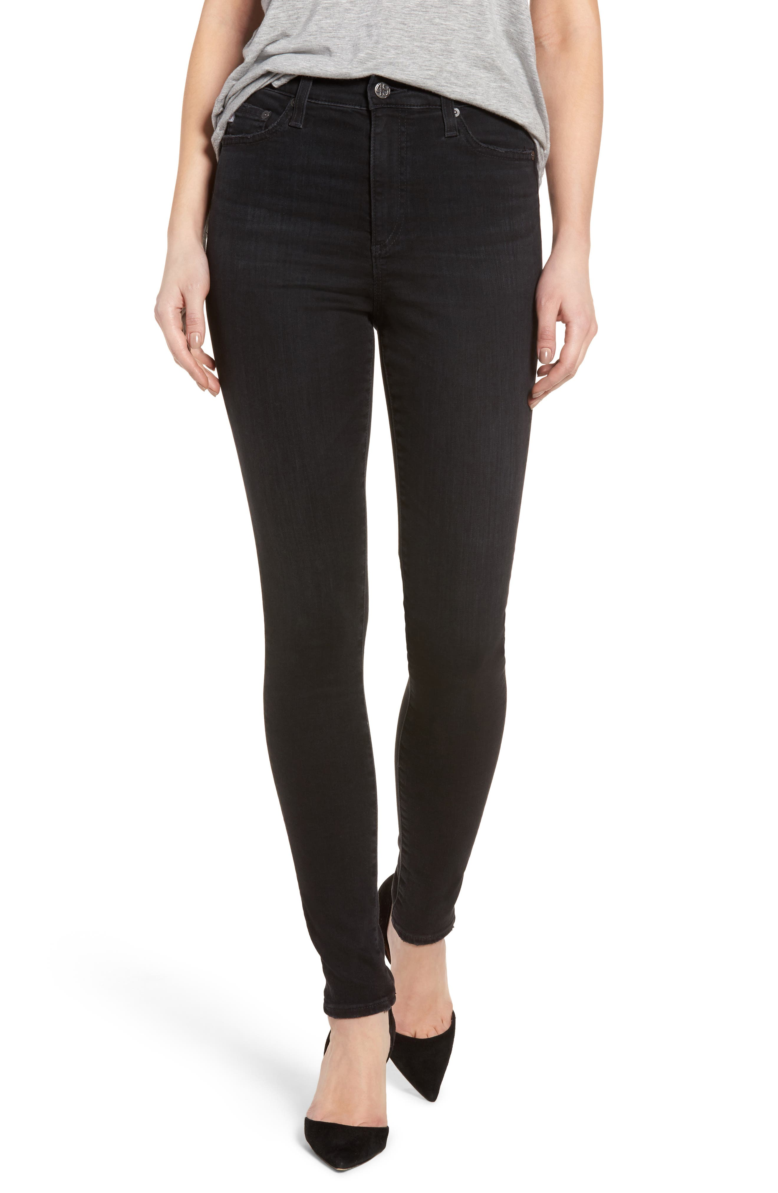Mila High Rise Skinny Jeans,                         Main,                         color, 03 Years Black Obsidian