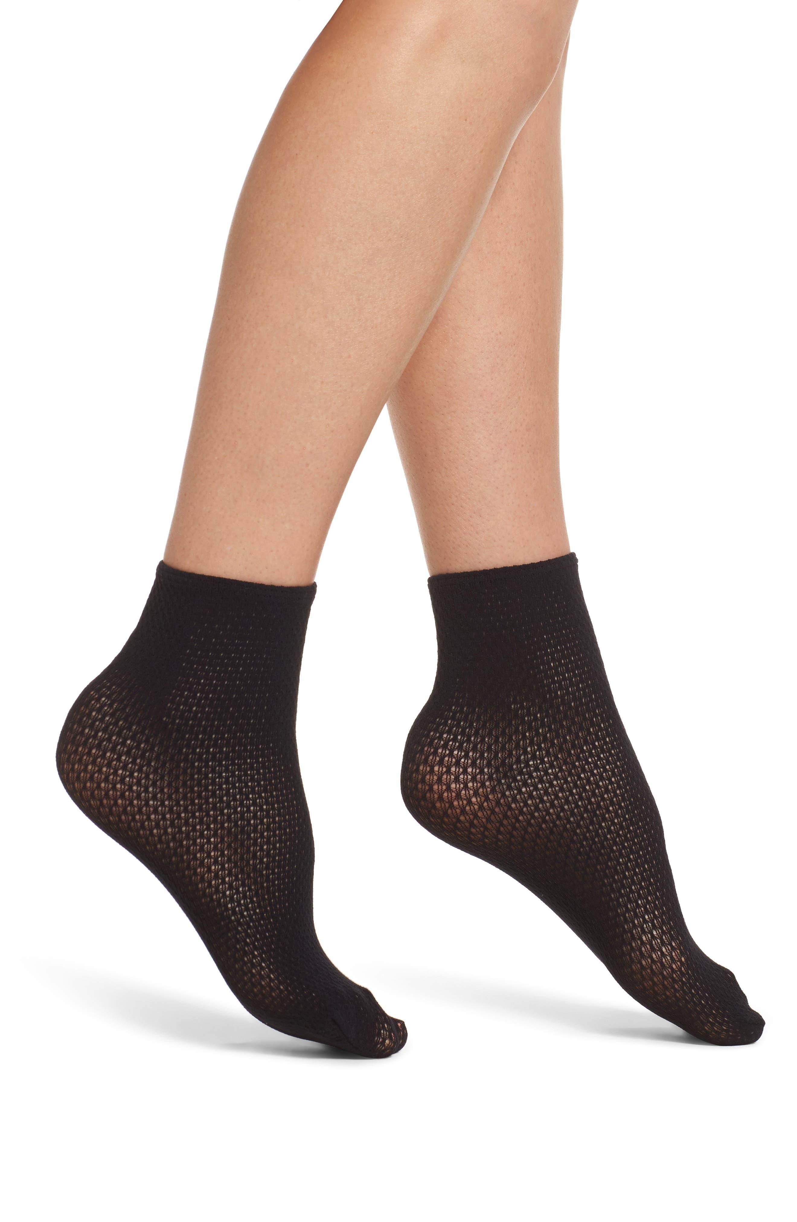 Wolford Rhomb Net Ankle Socks