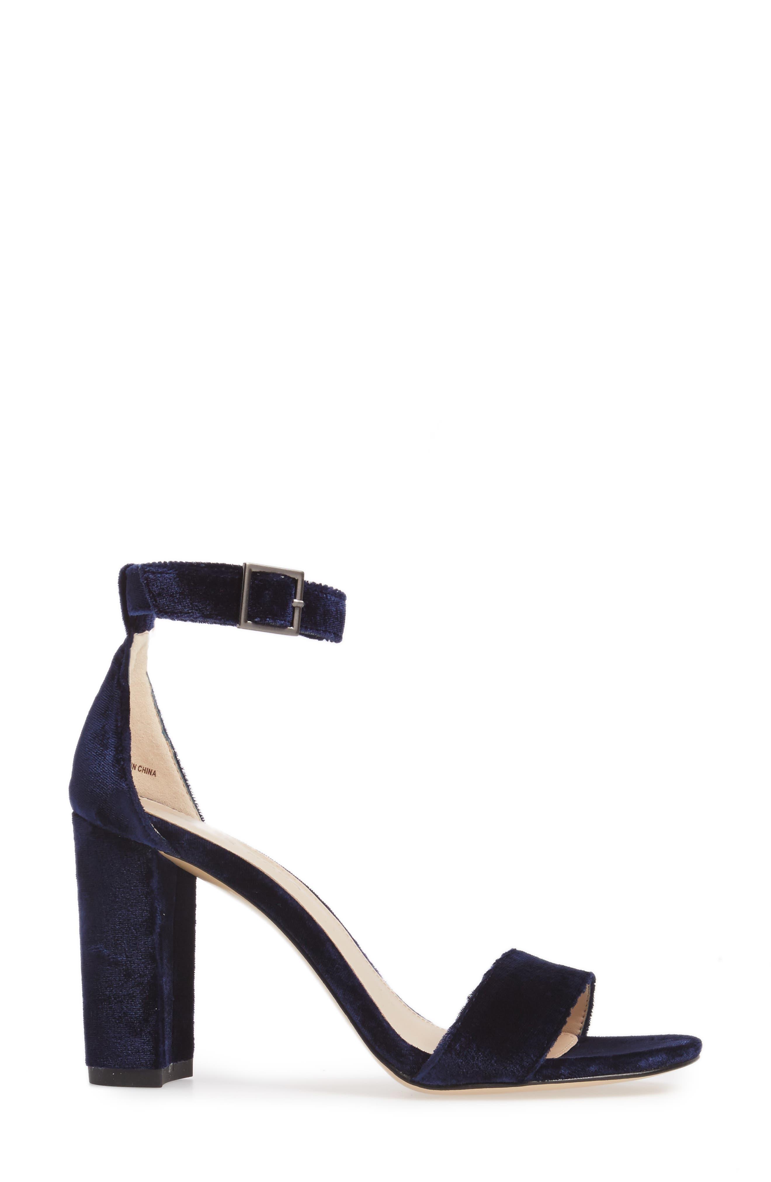 Bonnie Ankle Strap Sandal,                             Alternate thumbnail 3, color,                             Midnight
