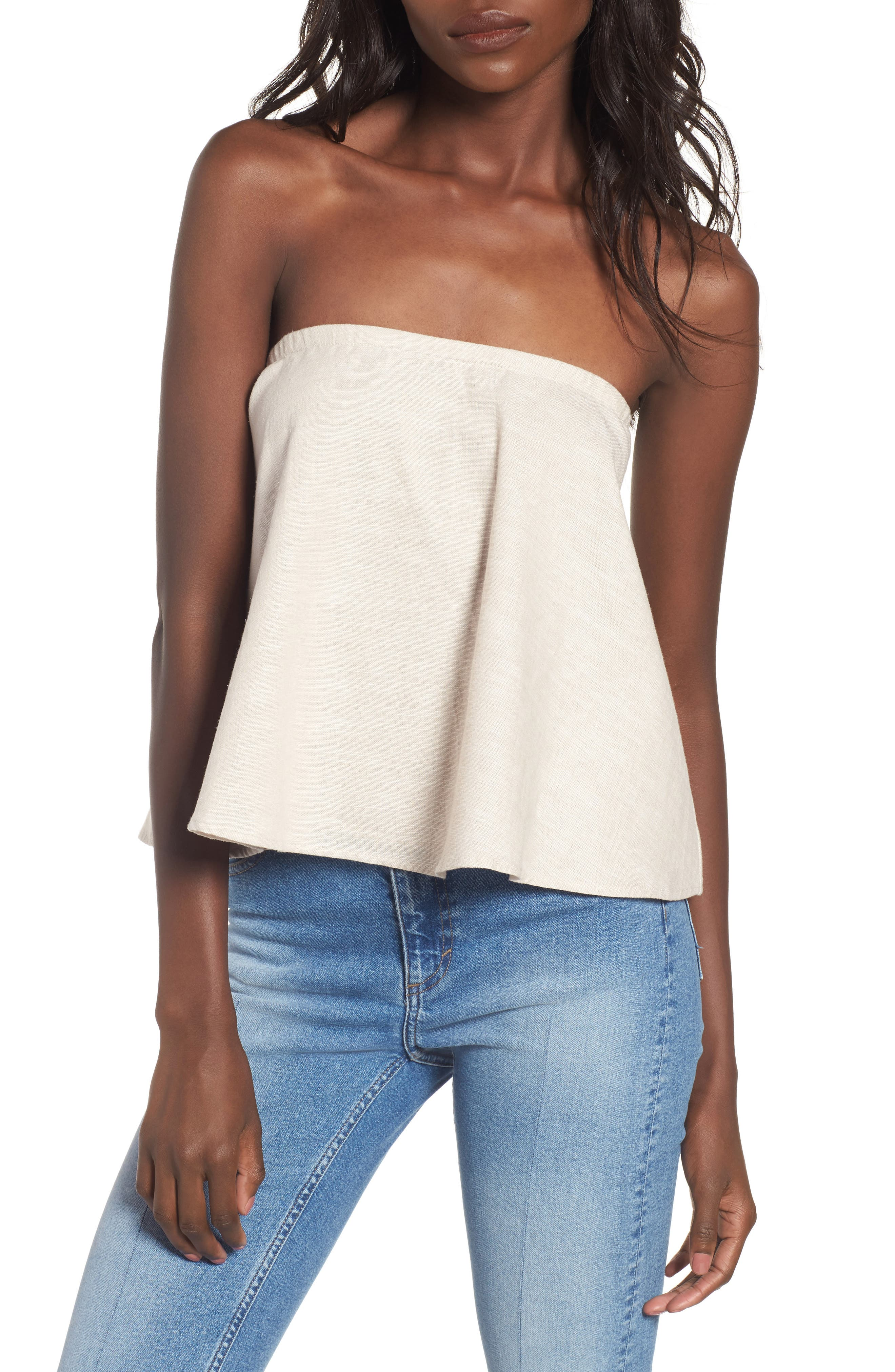 WAYF Strapless Top