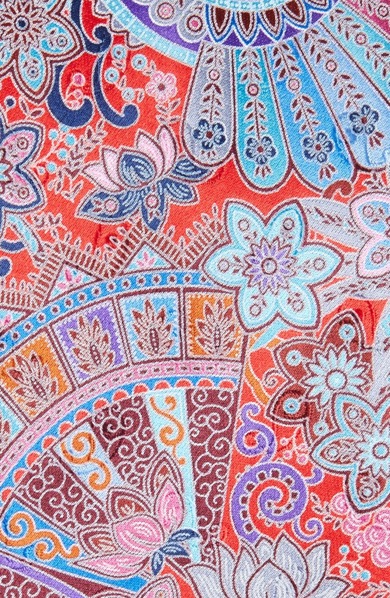 Quindici Paisley Silk Tie,                             Alternate thumbnail 2, color,                             Medium Red Fan