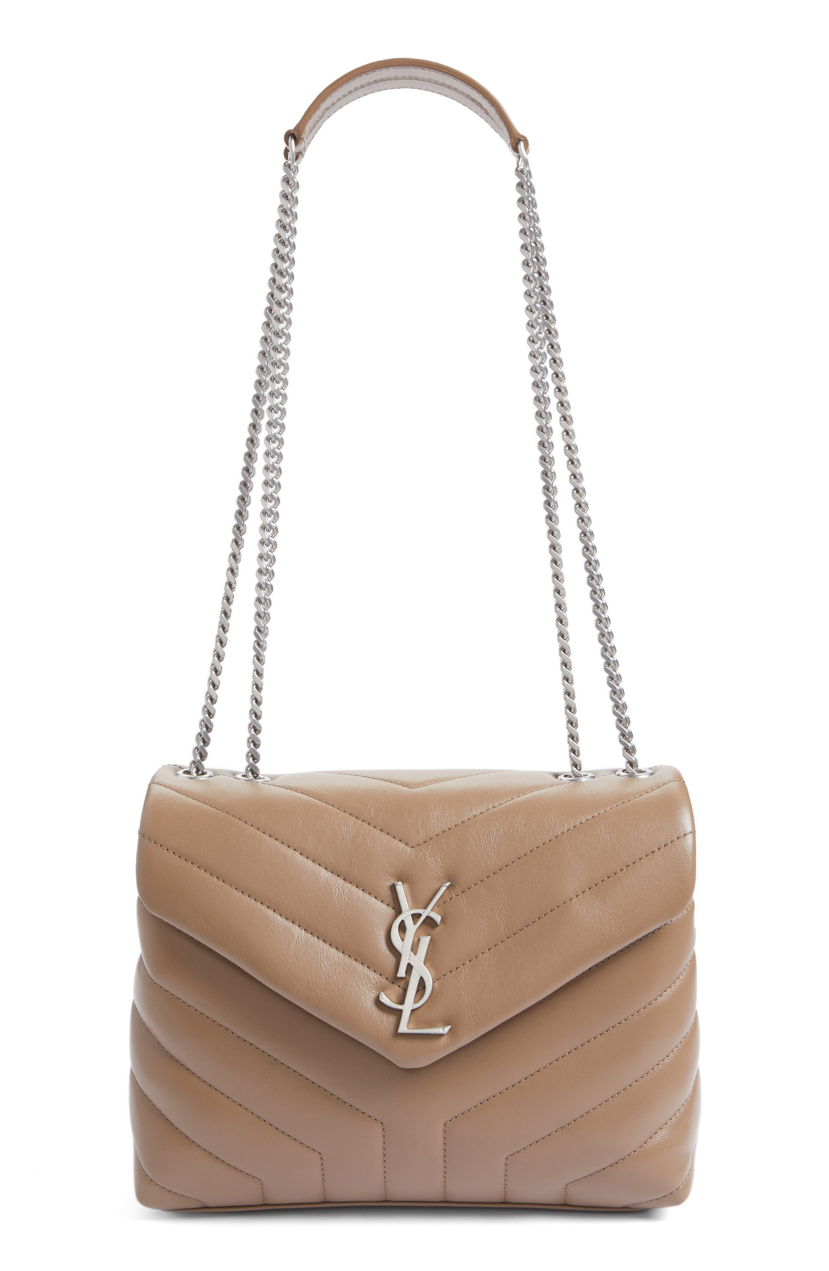 Main Image - Saint Laurent Small Loulou Matelassé Leather Shoulder Bag
