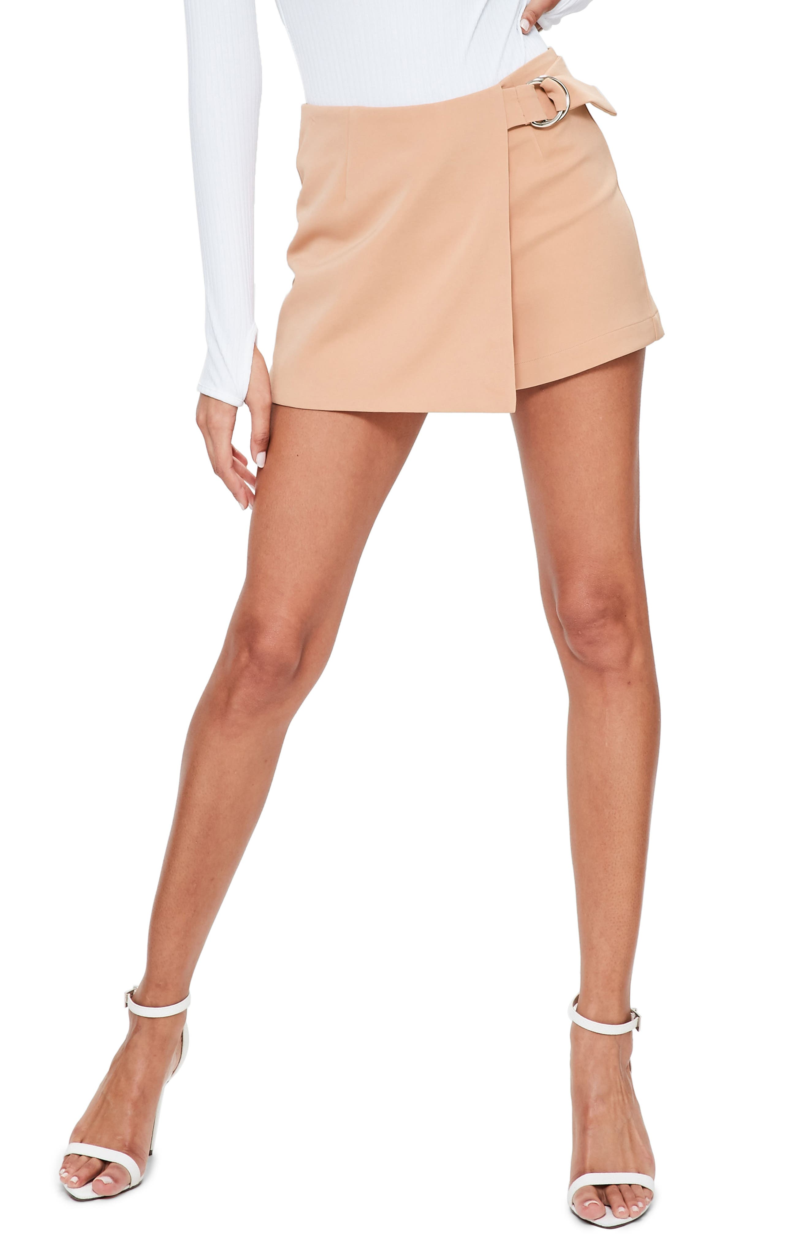Missguided Side Ring Faux Wrap Shorts