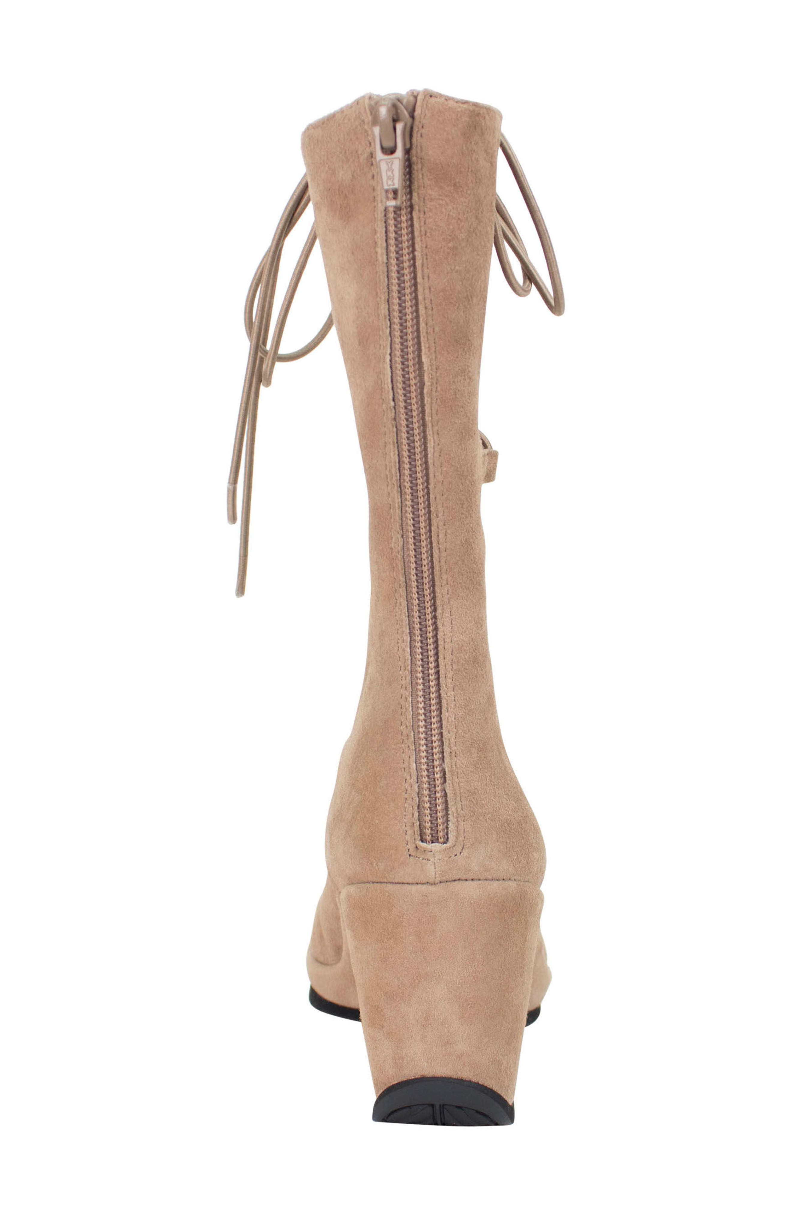 Othello Lace-Up Sandal,                             Alternate thumbnail 5, color,                             Taupe Suede