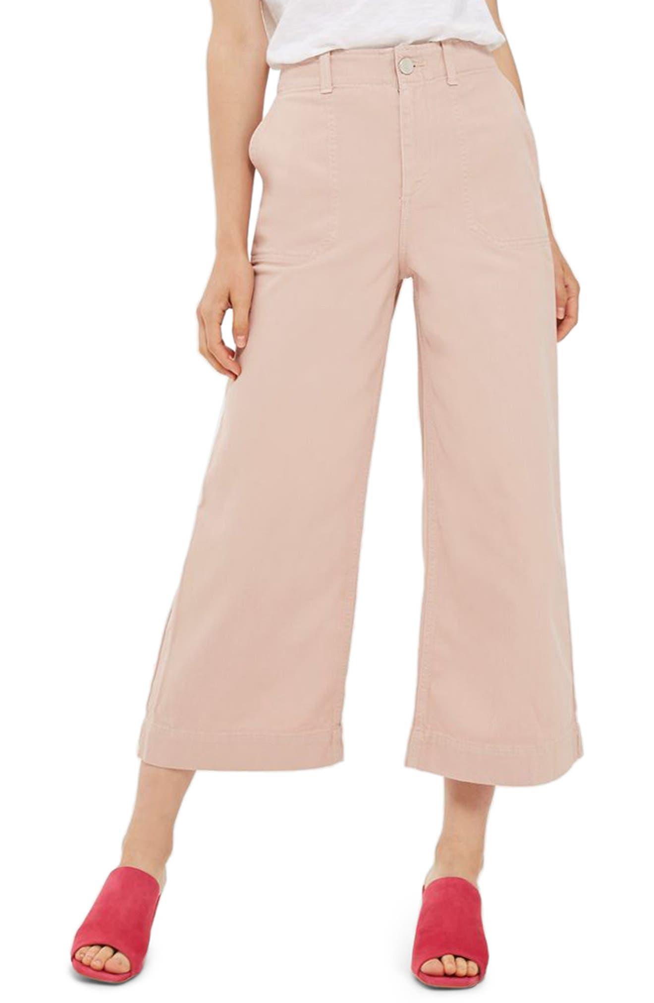 TOPSHOP Sailor Crop Trousers