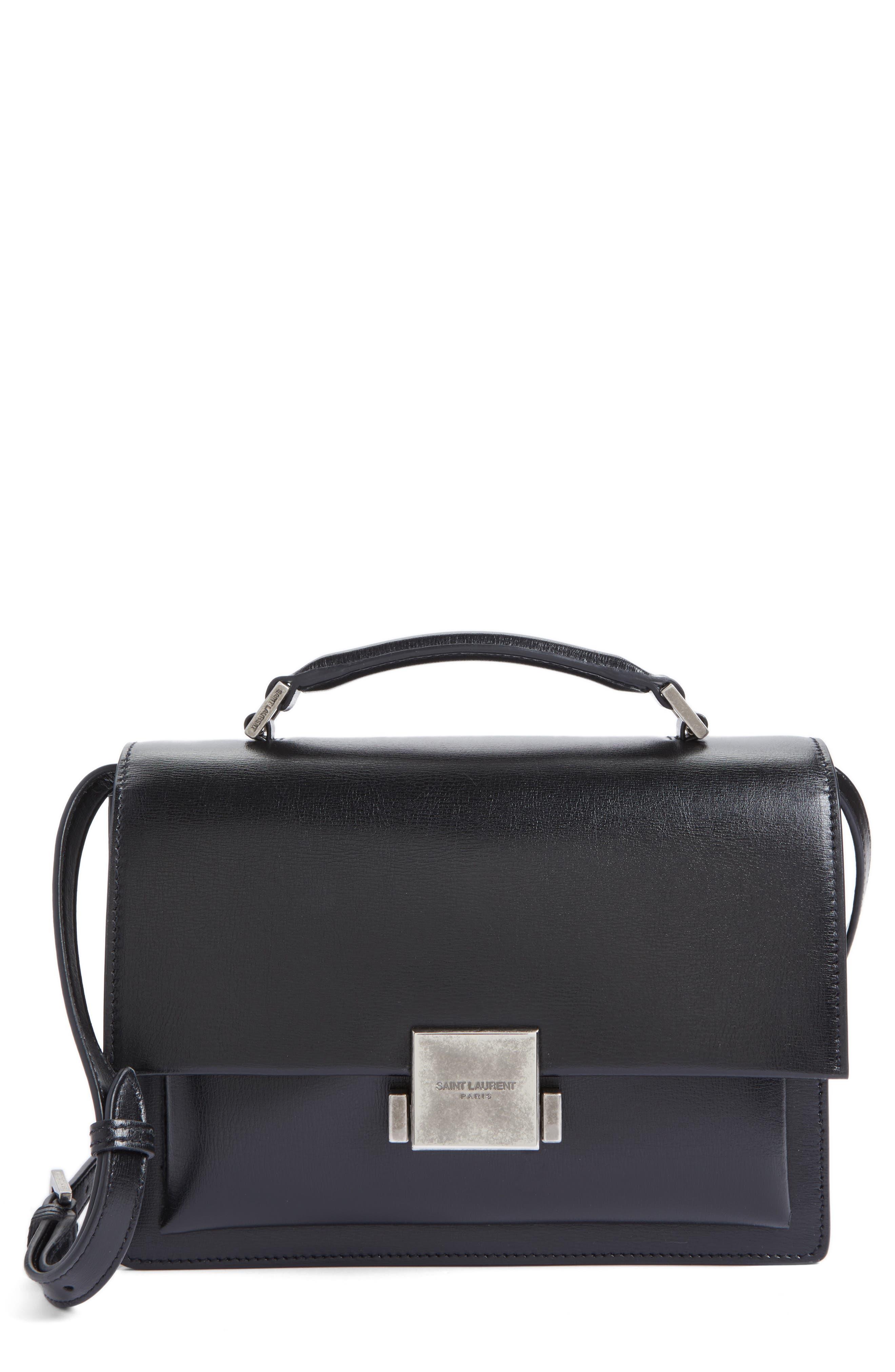 SAINT LAURENT Medium Bellechasse School Leather Shoulder Bag