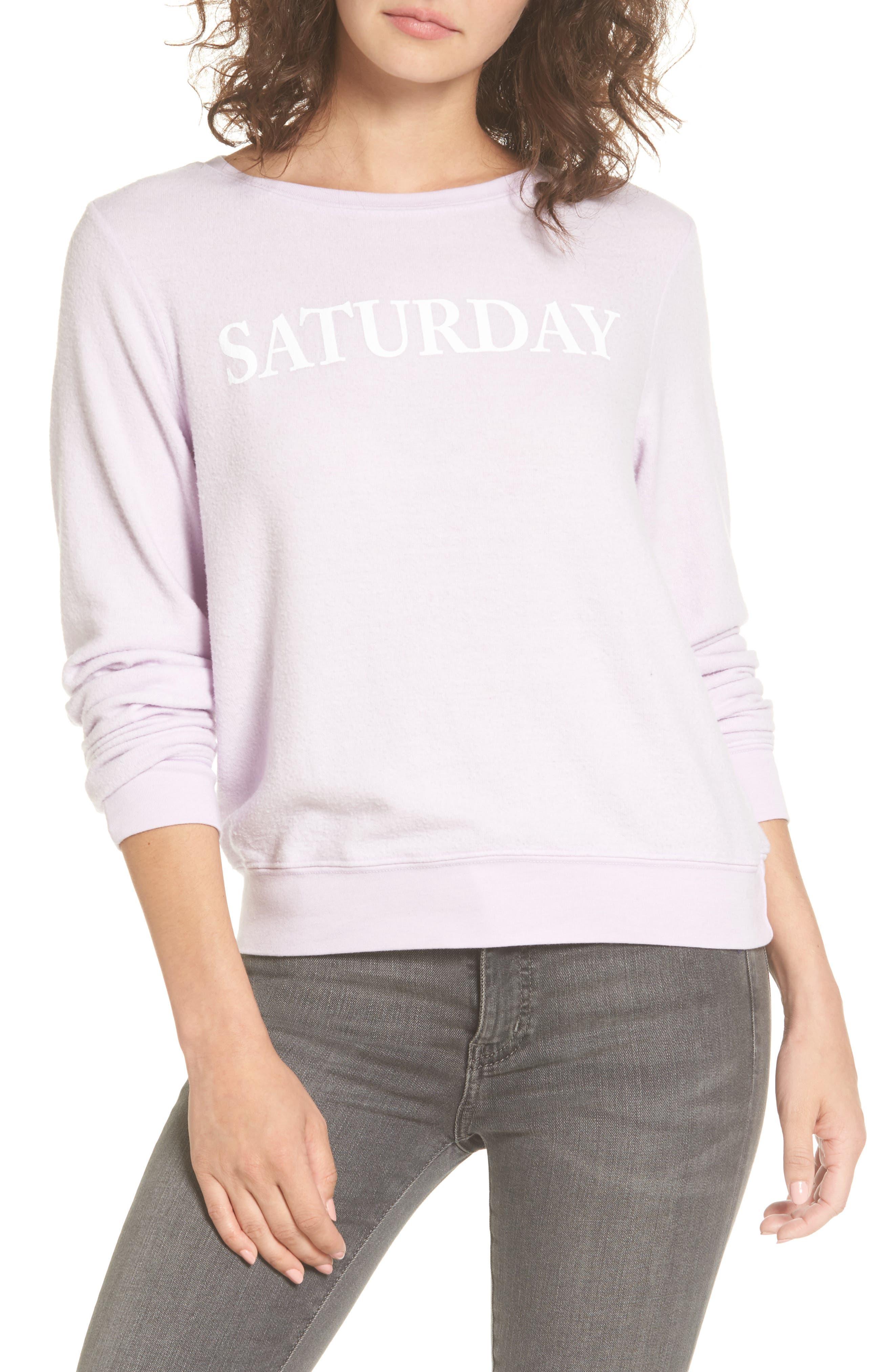 Saturday Sweatshirt,                         Main,                         color, Purple